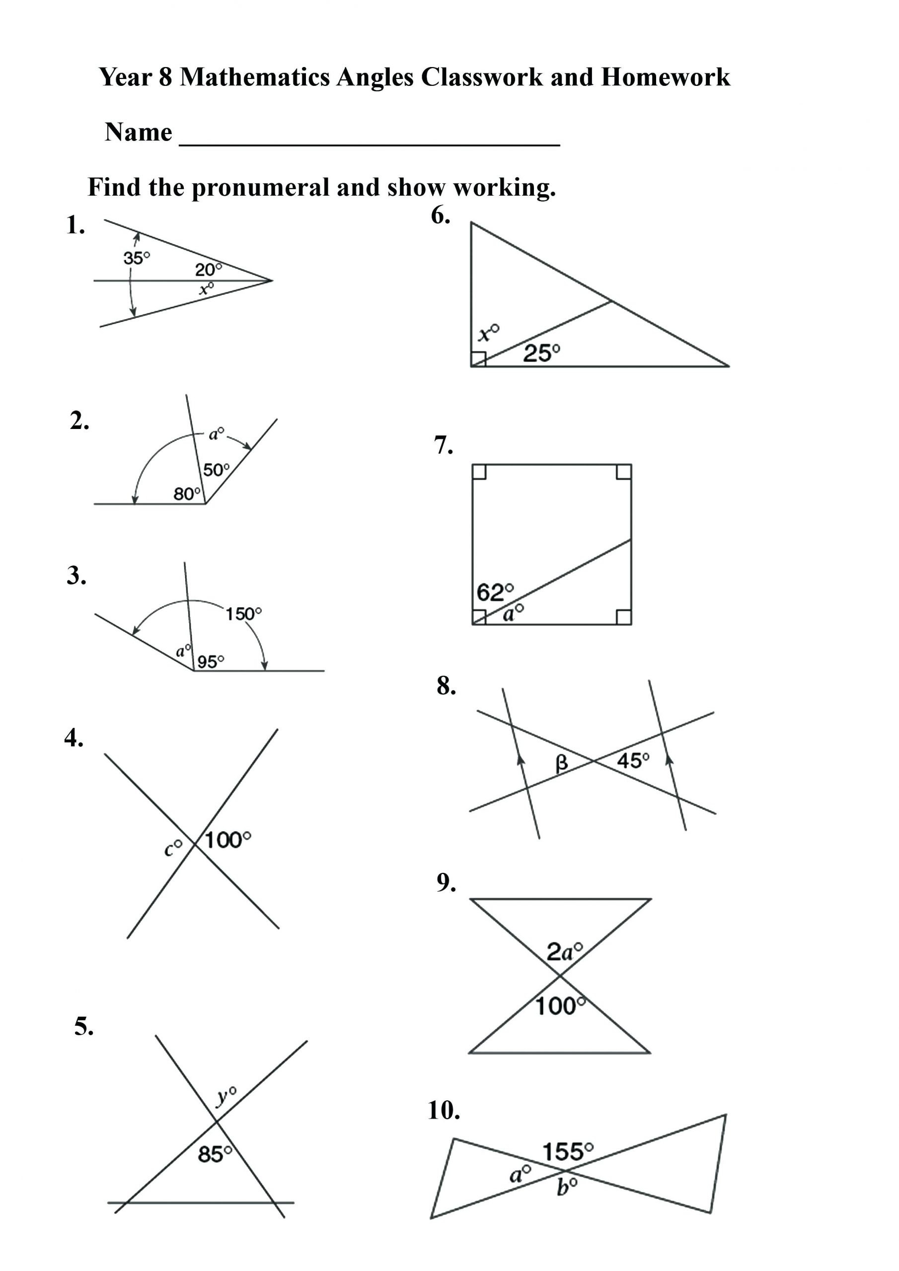 Volume Worksheets 3rd Grade Measuring Angles Worksheet Math Worksheets Geometry Year