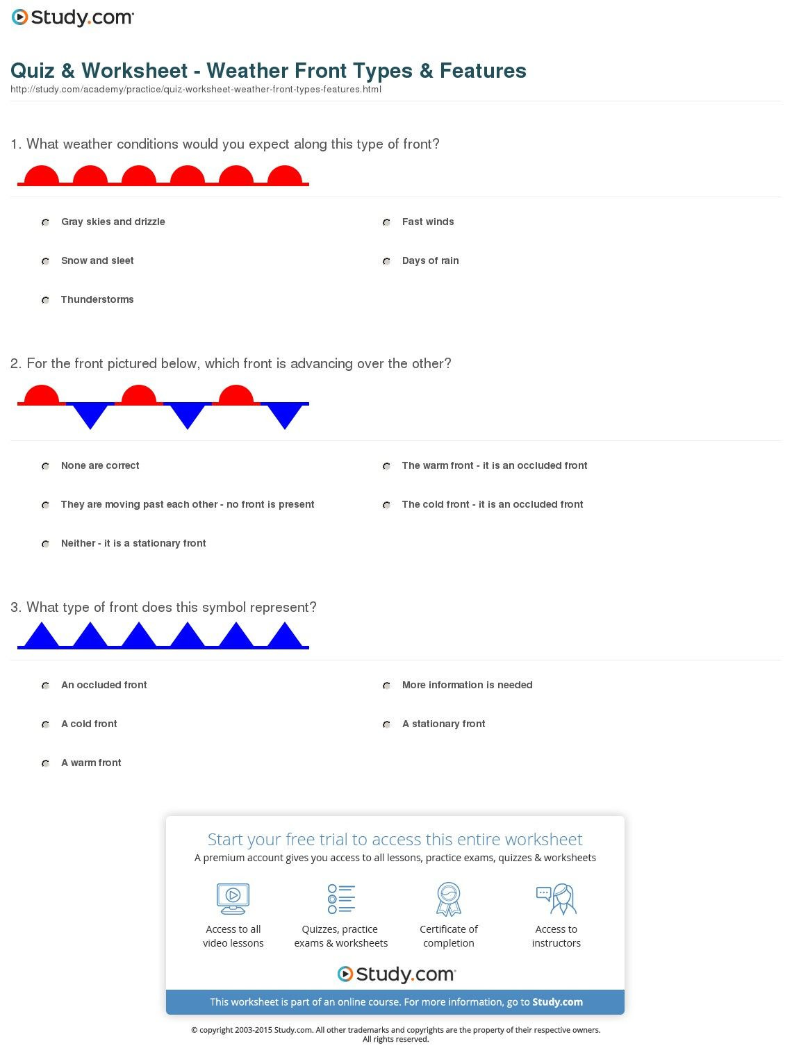 Weather Worksheets for Middle School Image Result for Weather Worksheets for Middle School