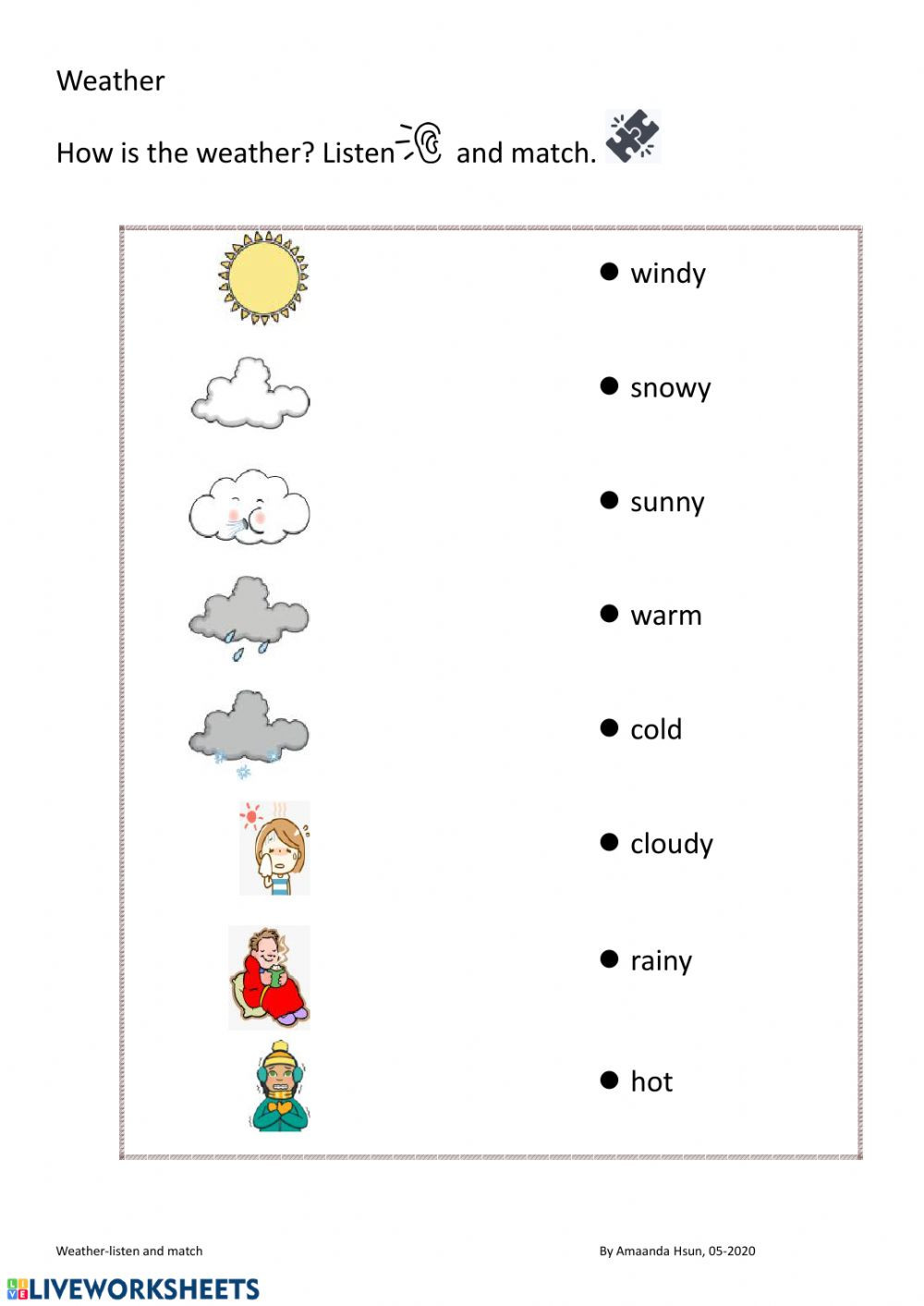 Weather Worksheets for Second Grade Weather Interactive Worksheet