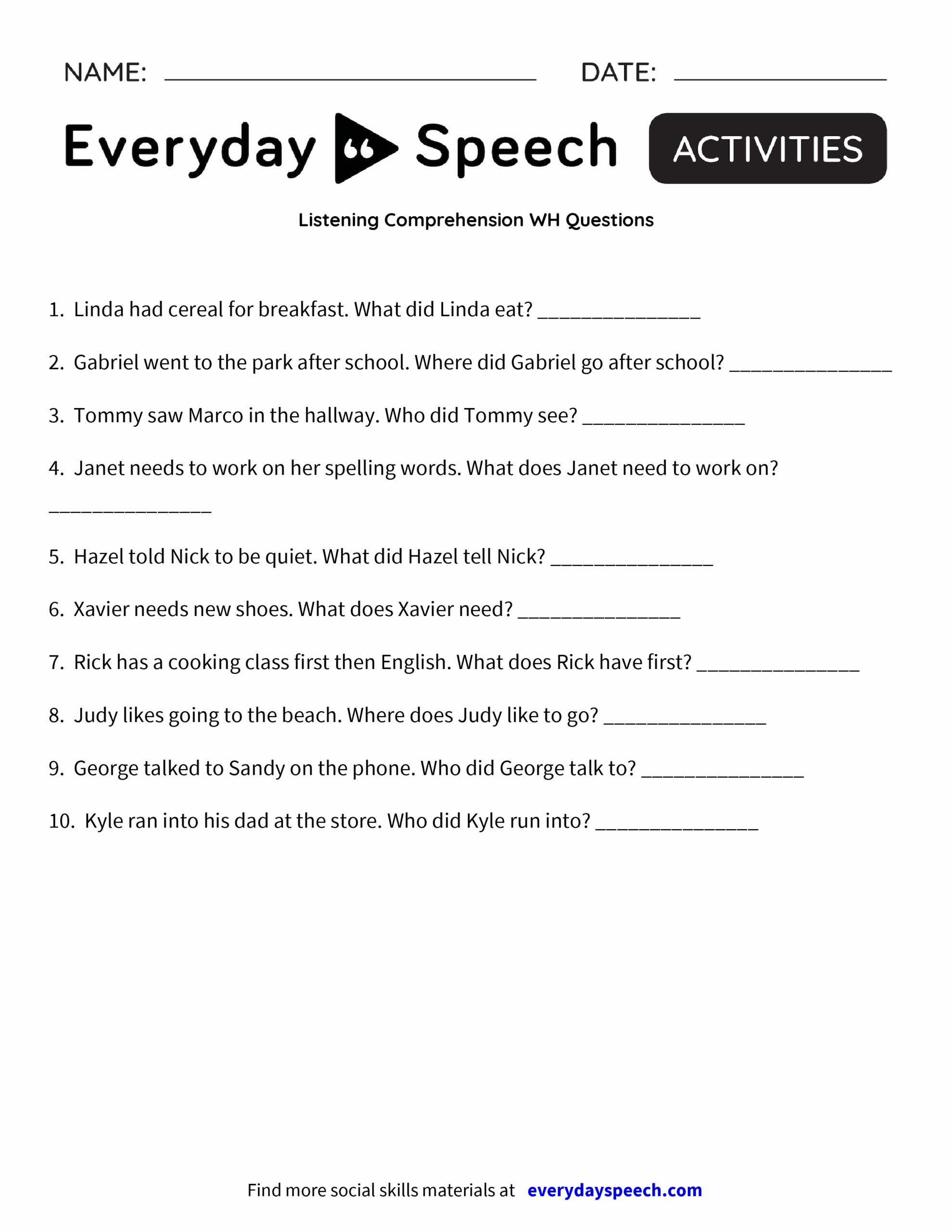 Wh Questions Reading Comprehension Worksheets Math Worksheet 46 Phenomenal Year 1 Reading Prehension