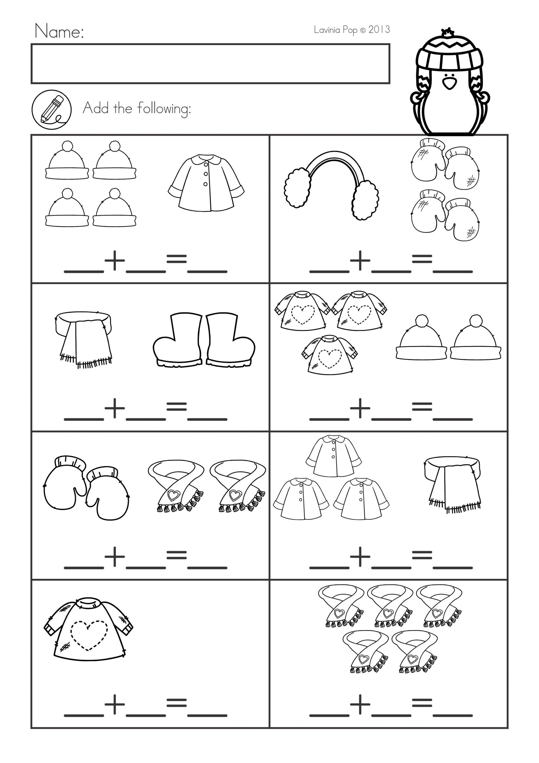 Winter Worksheets for First Grade Winter Math Worksheets & Activities No Prep