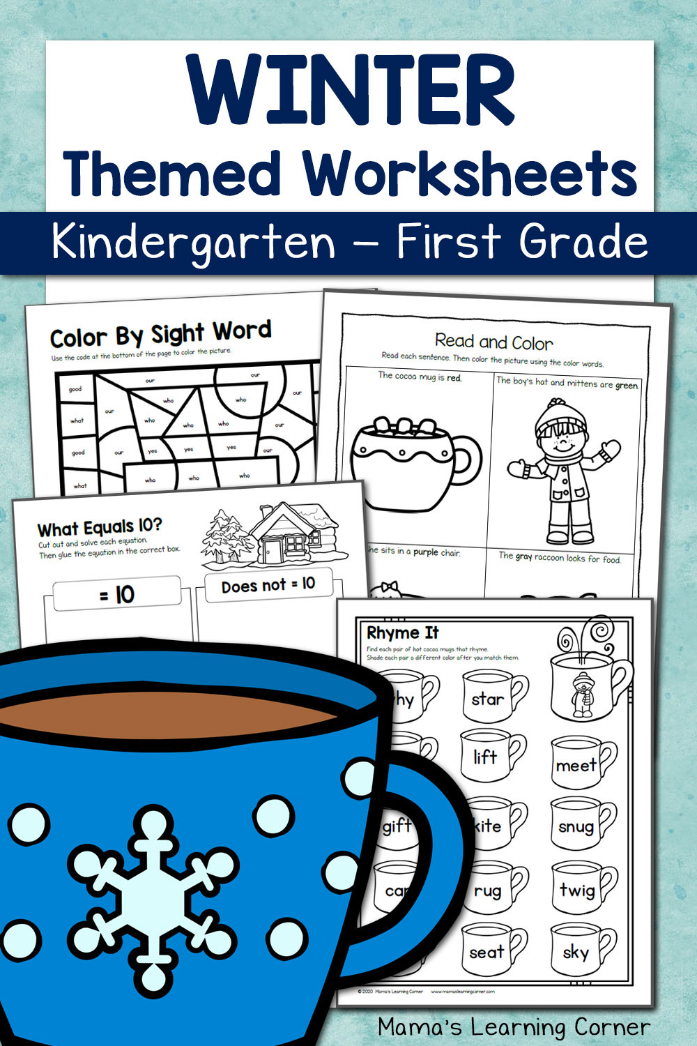 Winter Worksheets for First Grade Winter Worksheets for Kindergarten and First Grade Mamas