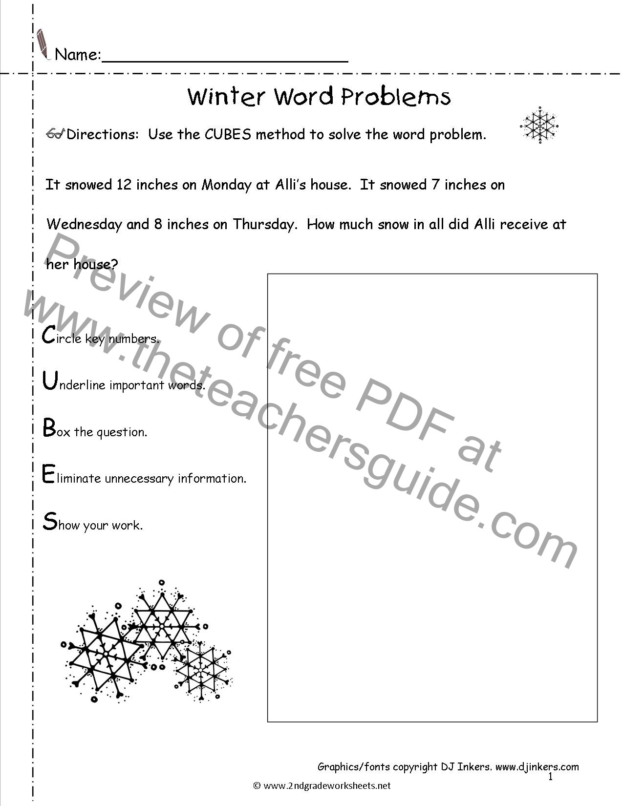 Winter Worksheets for Second Grade Winter Lesson Plans themes Printouts Crafts