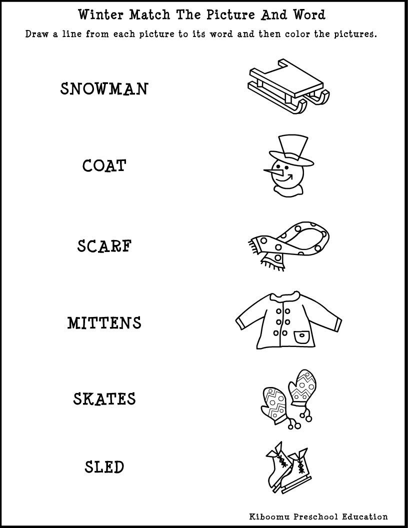 Winter Worksheets for Second Grade Winter song and Free Printable Reading Worksheet for Winter