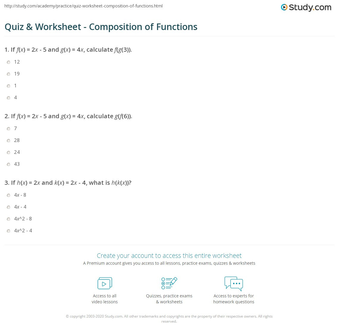 Writing A Function Rule Worksheet Quiz & Worksheet Position Of Functions