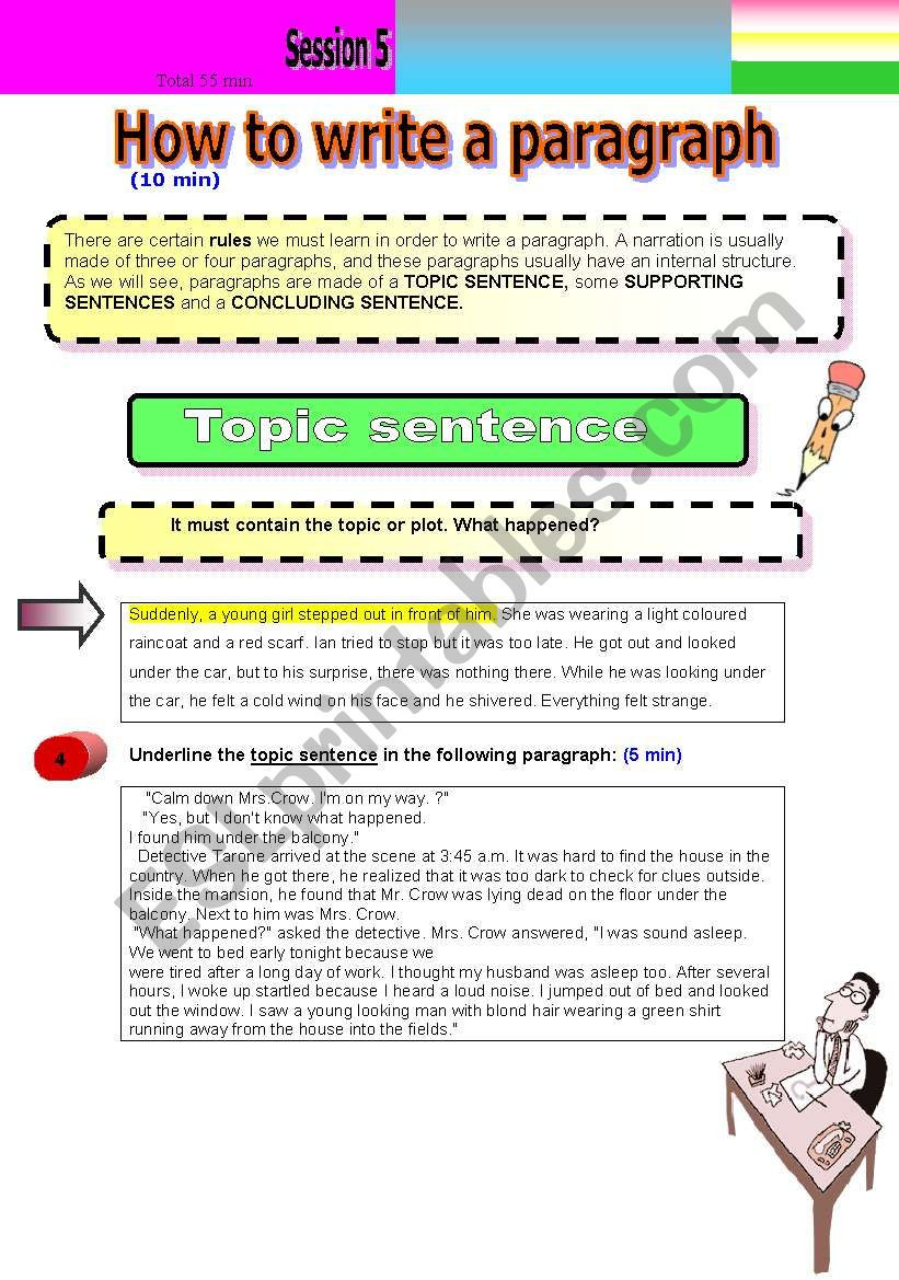 Writing A Paragraph Worksheet How to Write A Paragraph Esl Worksheet by Lasmer