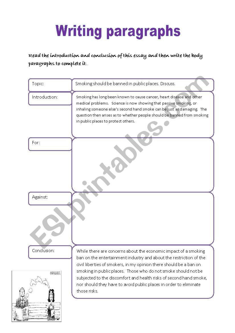 Writing A Paragraph Worksheet Writing Paragraphs Esl Worksheet by Ibululu