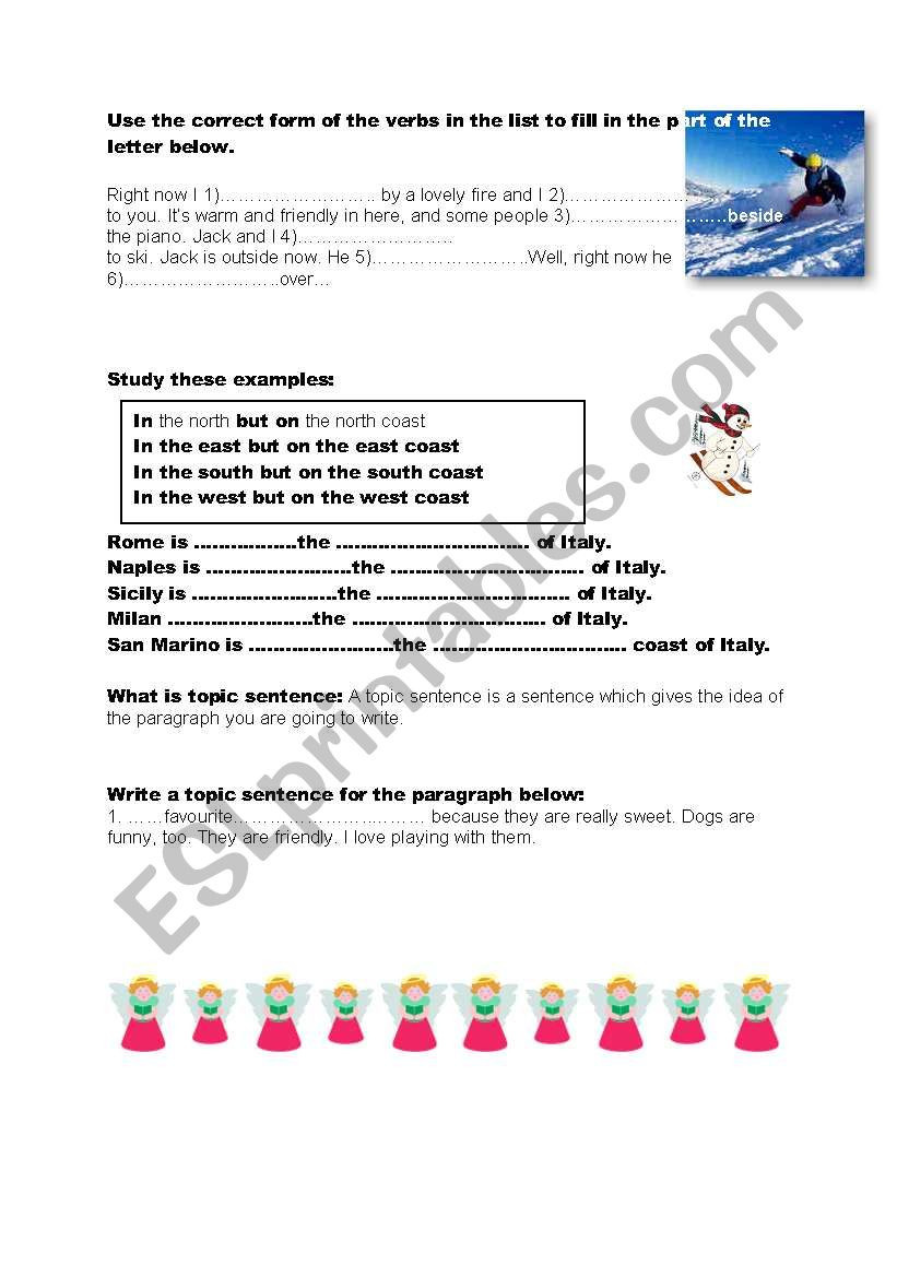 Writing A topic Sentence Worksheet How to Write A topic Sentence and Paragraphs Esl Worksheet