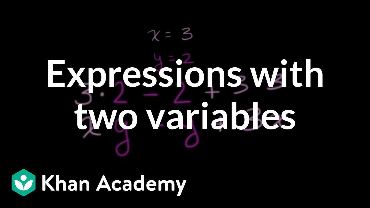 Writing and Evaluating Expressions Worksheet Evaluating Expressions with Two Variables Video
