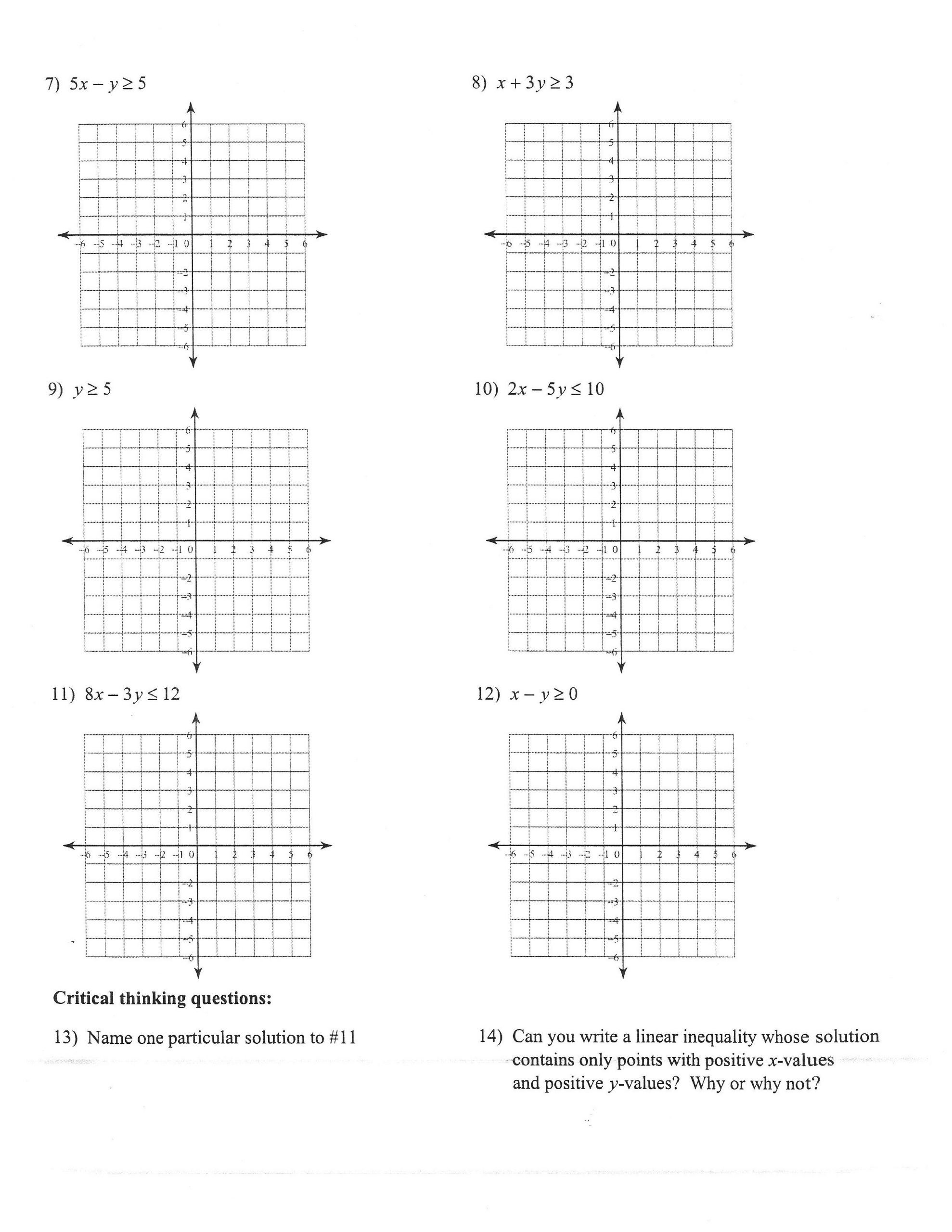 Writing and Graphing Inequalities Worksheet 20 Writing Equations From Graphs Worksheet