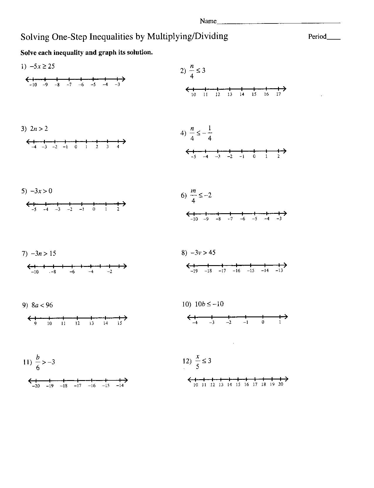 Writing and Graphing Inequalities Worksheet Linear Inequalities In Two Variables Worksheet Answers