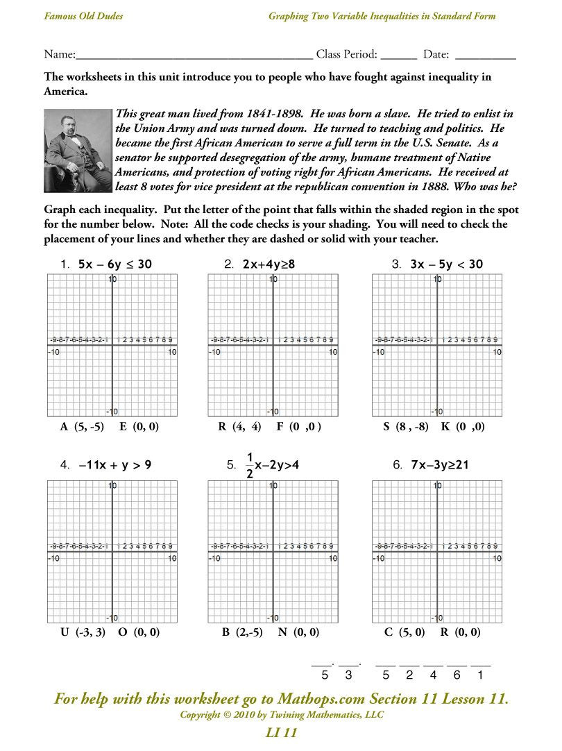 Writing and Graphing Inequalities Worksheet solving Systems Linear Inequalities Graphing Worksheet