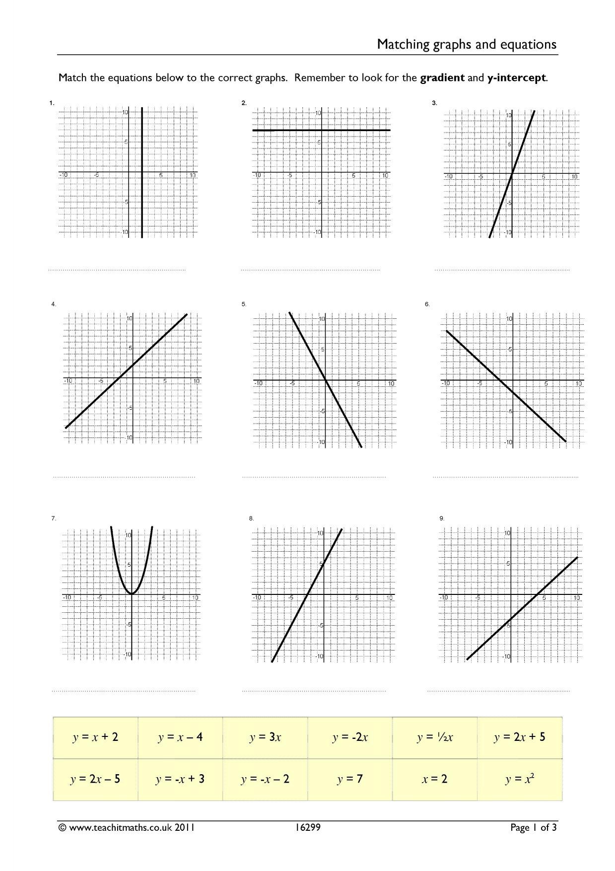 Writing Equations From Graphs Worksheet 20 Writing Equations From Graphs Worksheet
