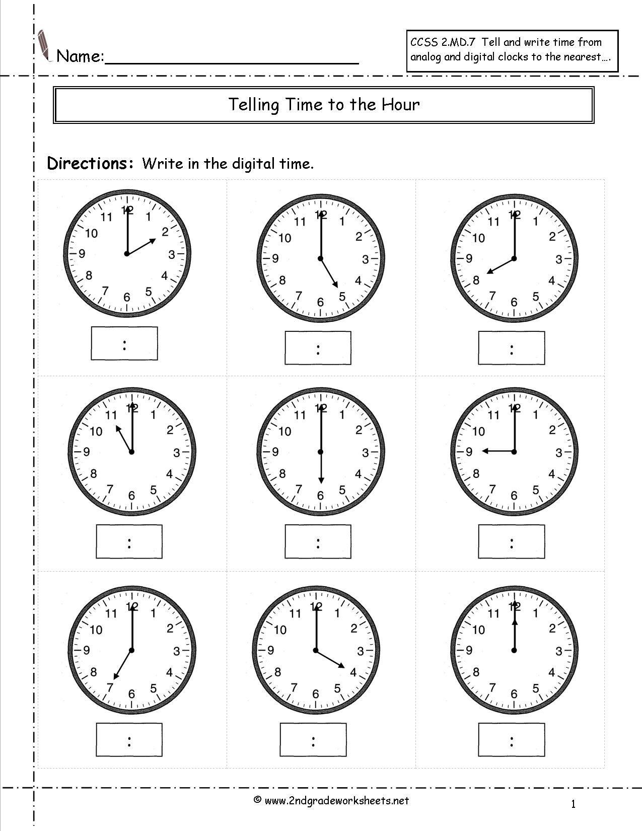 Writing Equations From Tables Worksheet Telling Time Worksheets Half Hour Kids Math Free First Grade