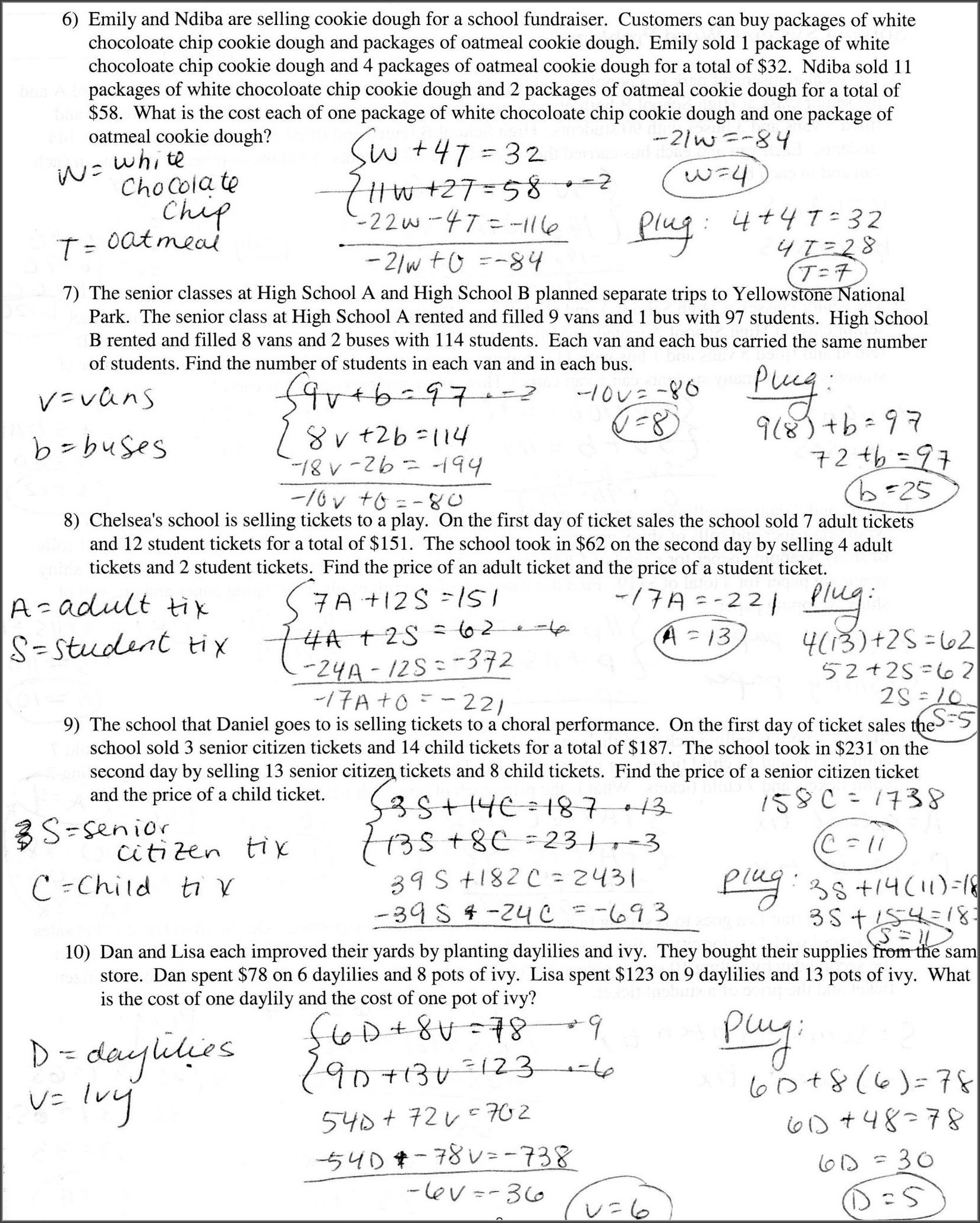 Writing Equations From Tables Worksheet Writing Equations Grade 7 Worksheet