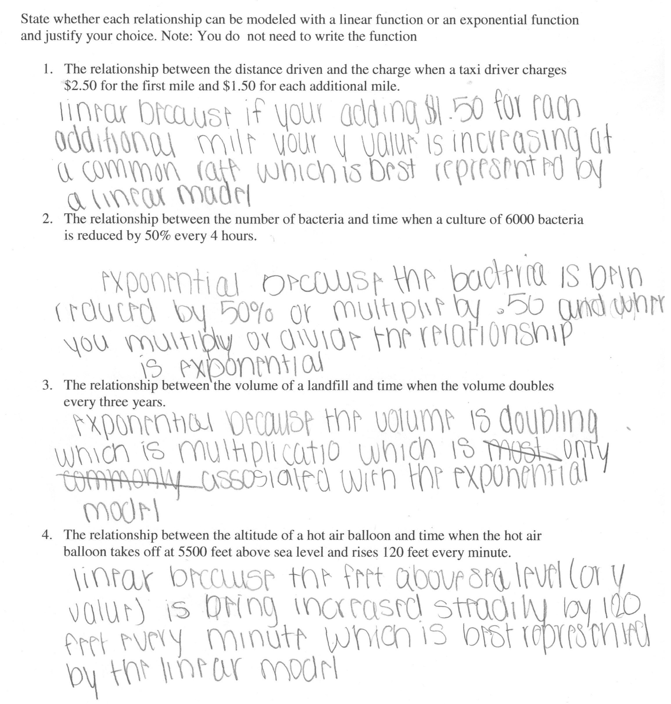 34 Exponential Function Word Problems Worksheet Worksheet
