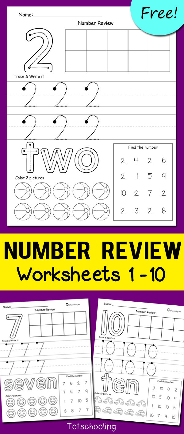 Writing Number Worksheets 1 20 Number Review Worksheets