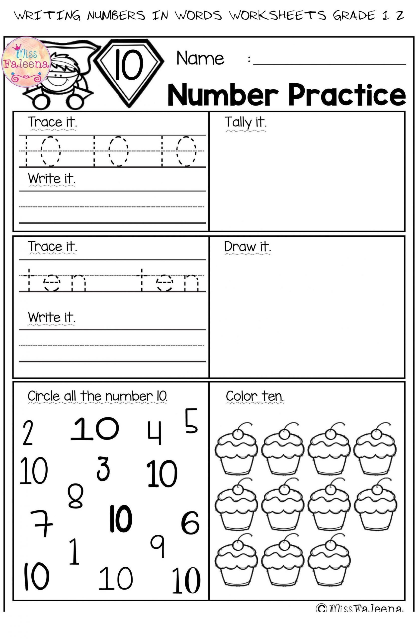 Writing Number Worksheets 1 20 Writing Numbers In Words Worksheets Grade 1 2 2 Writing
