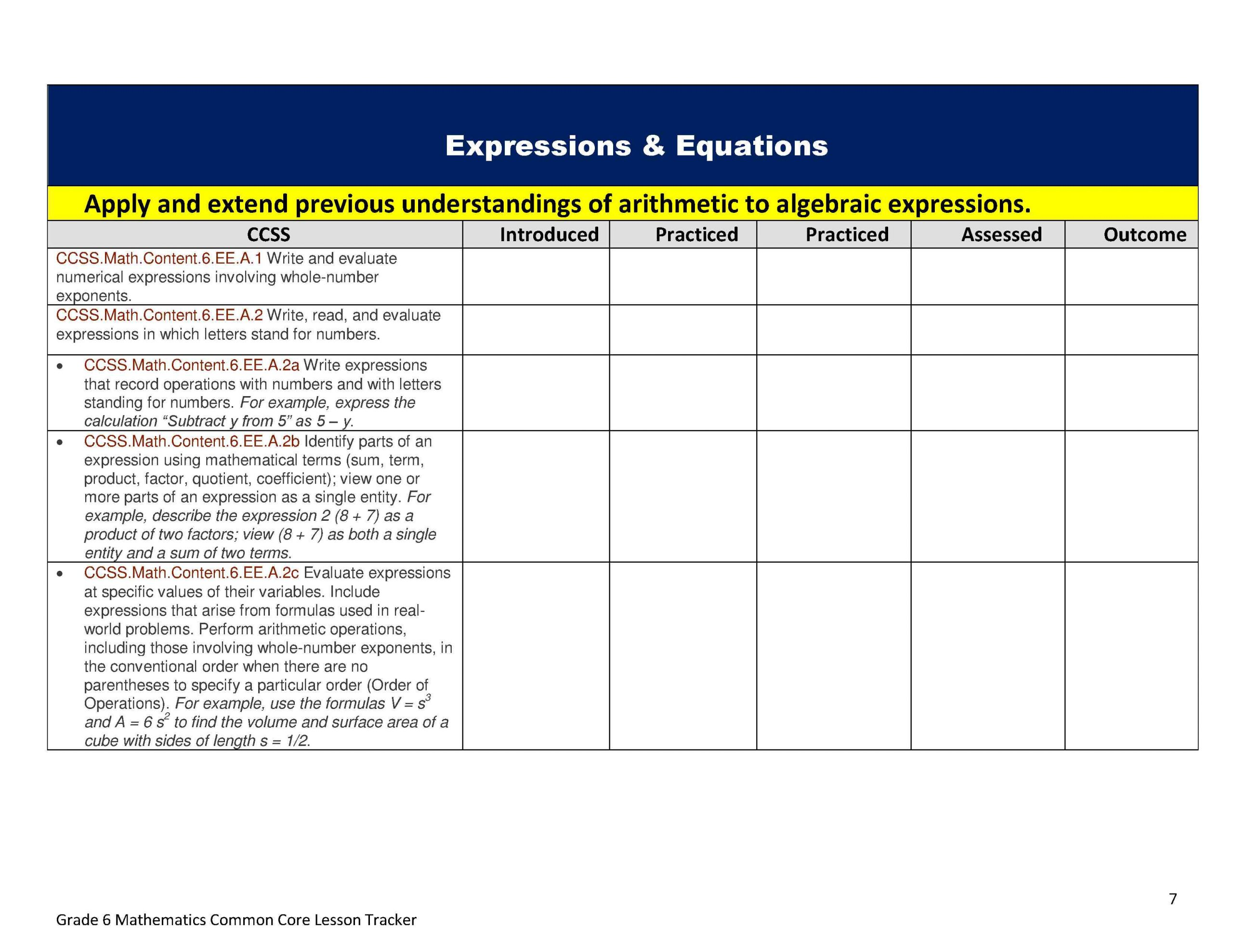 Writing Numerical Expressions Worksheet Writing and Evaluating Expressions Worksheet