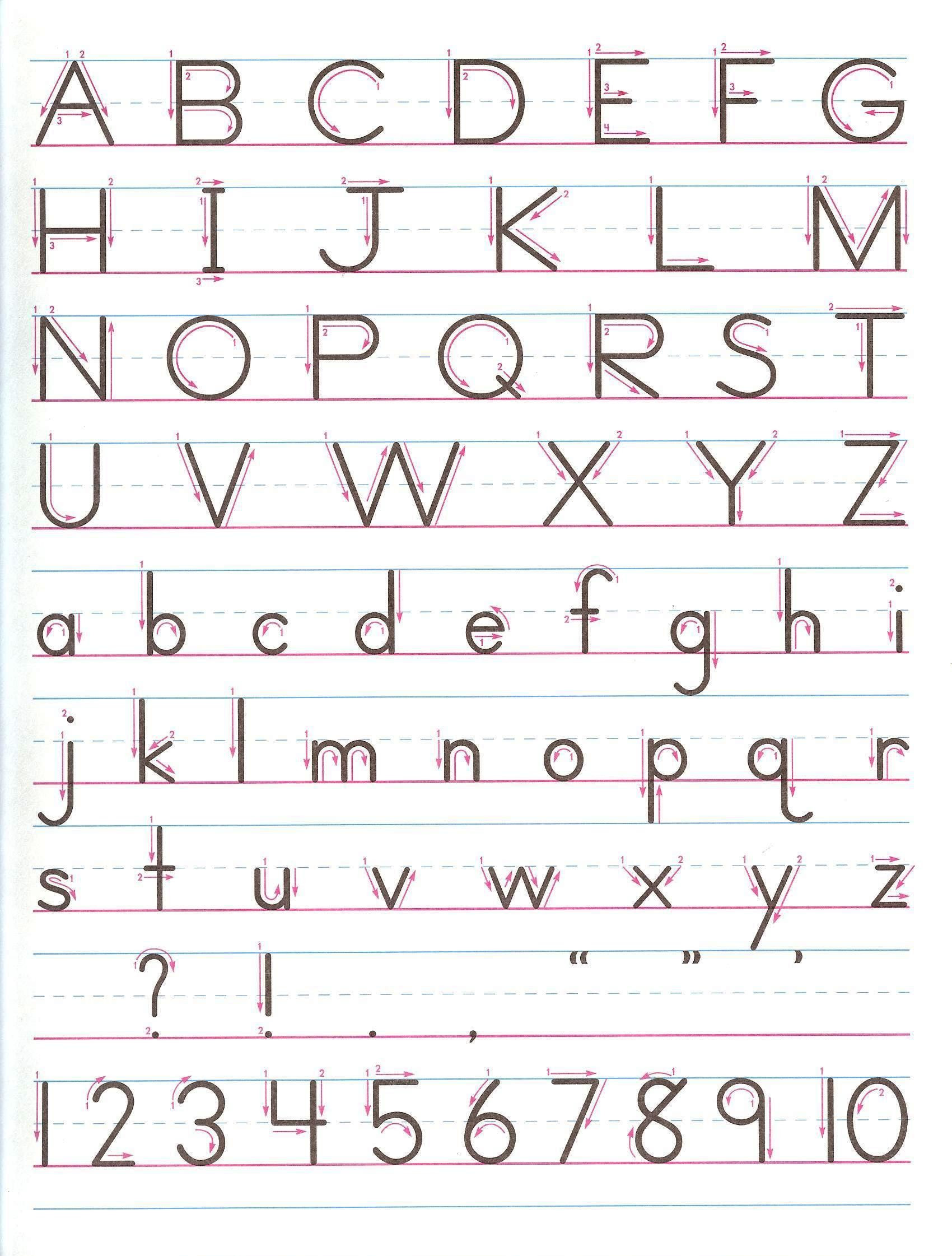 Zane Bloser Handwriting Worksheets Manuscript Handwriting Practice