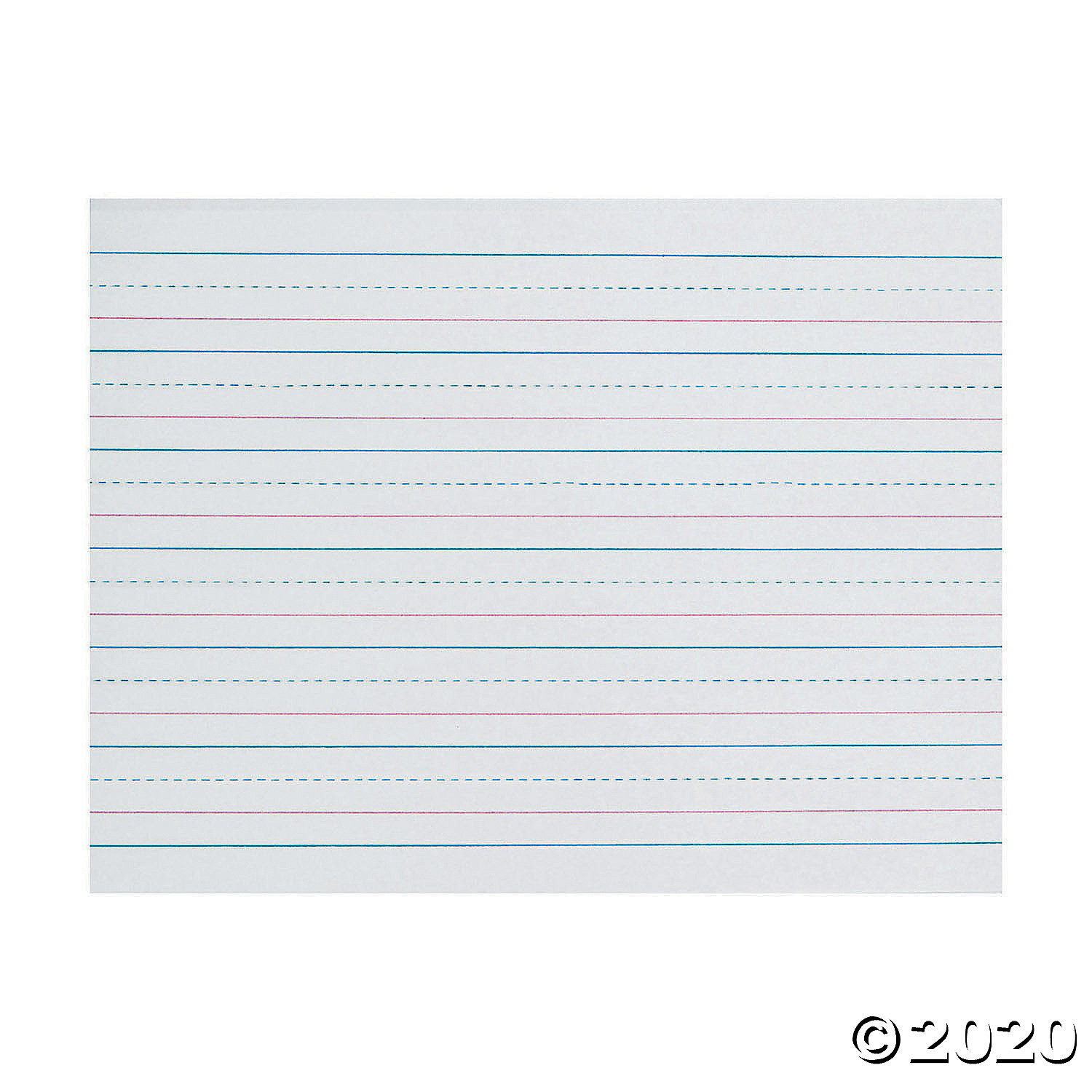 Zane Bloser Handwriting Worksheets Zaner Bloser™ Sulphite Handwriting Paper Dotted Midline Grade K 3 4 X 3 8 X 3 8 Ruled Long 10 1 2 X 8 500 Sheets Per Pack 2 Packs