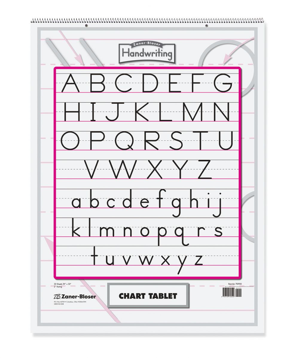 Zaner Bloser Handwriting Worksheet Zaner Bloser™ Chart Tablet Pacon Creative Products