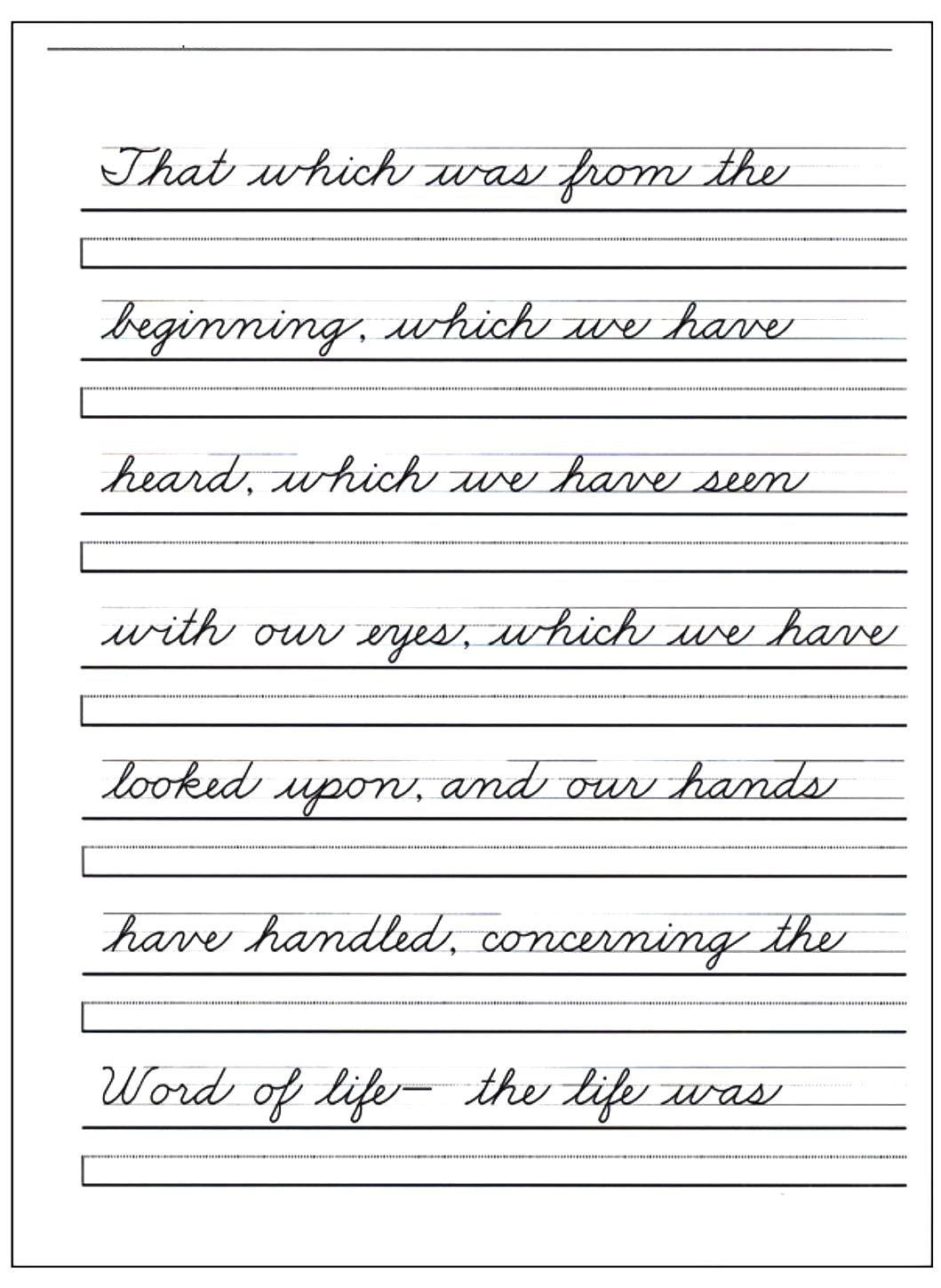 Zaner Bloser Handwriting Worksheets 30 Simple Handwriting Worksheets for You S