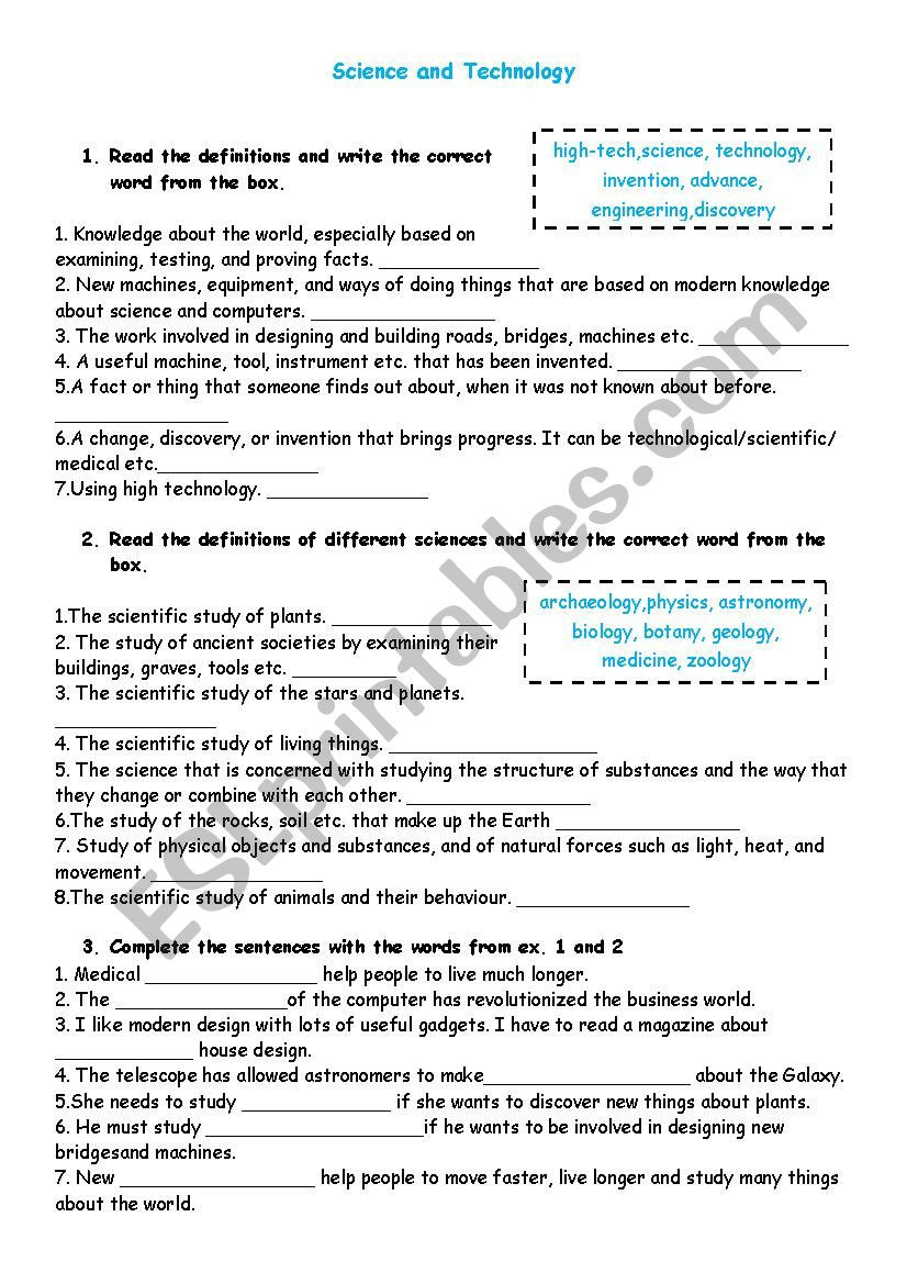Zoology Worksheets High School Science and Discoveries Esl Worksheet by Treeoflight