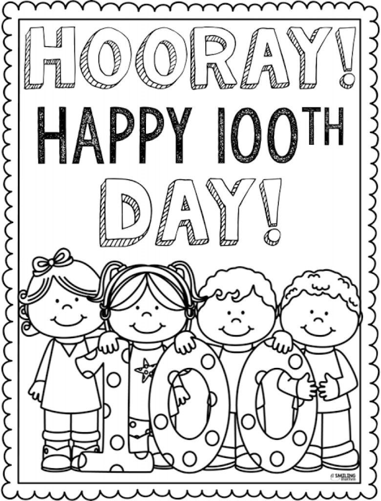 100th Day Of School Worksheets 100 Days School Coloring Pages Free Field Trip Coloring