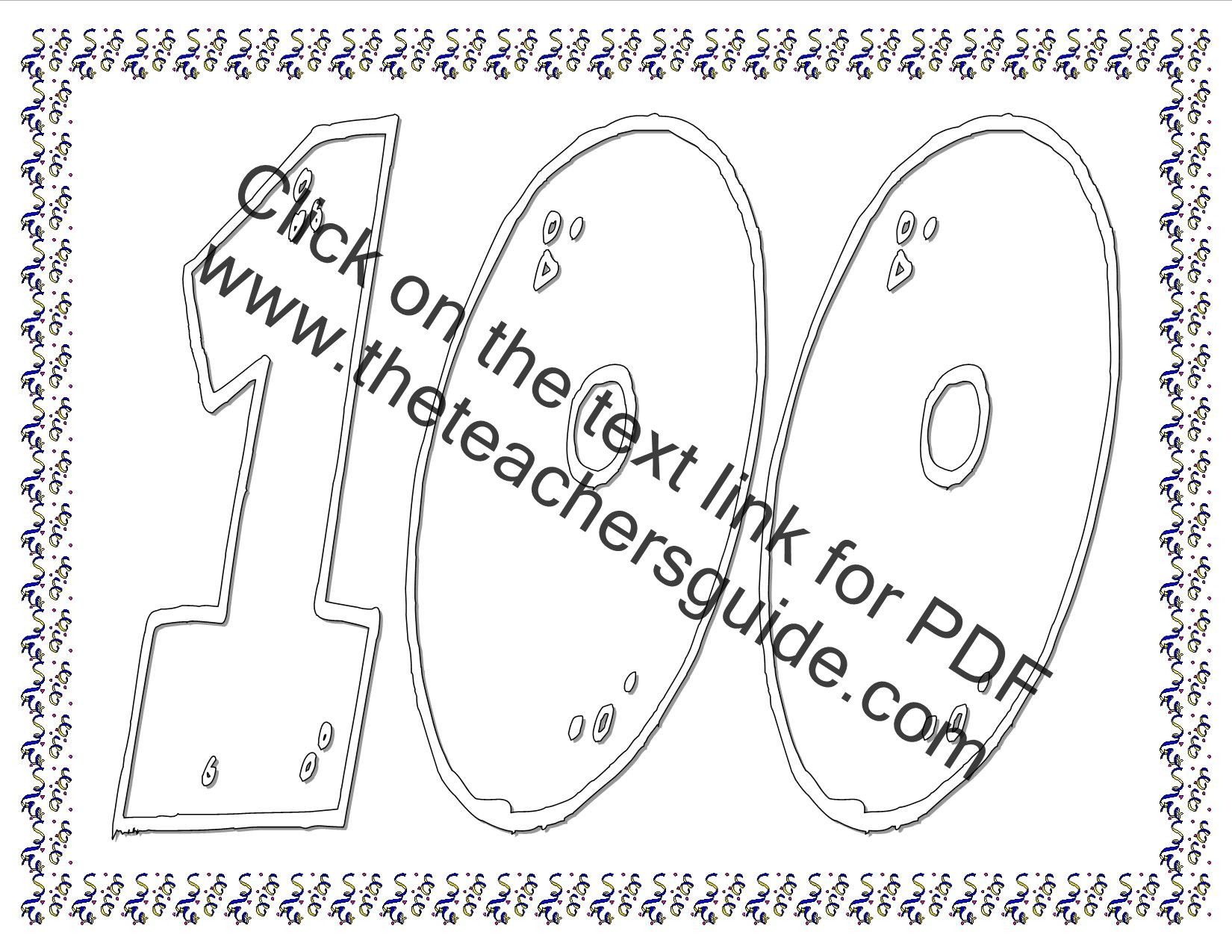 100th Day Of School Worksheets 100th Day Of School Worksheets and Printouts
