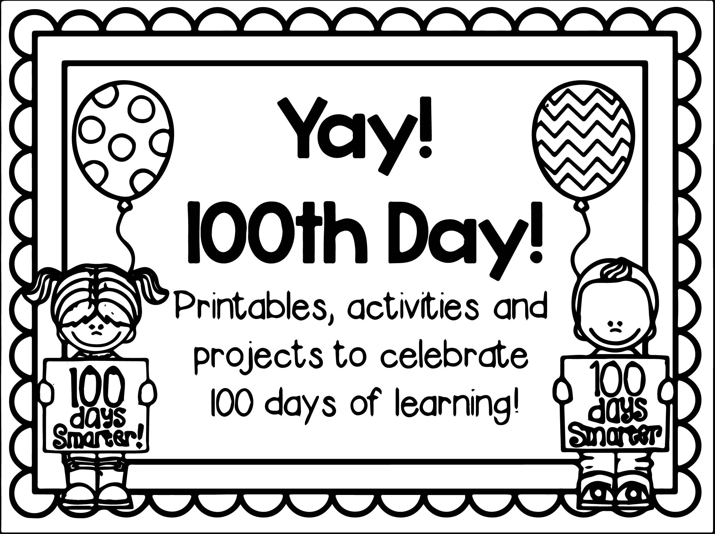 100th Day Of School Worksheets Days School Crafts for Kids Booklet Activities