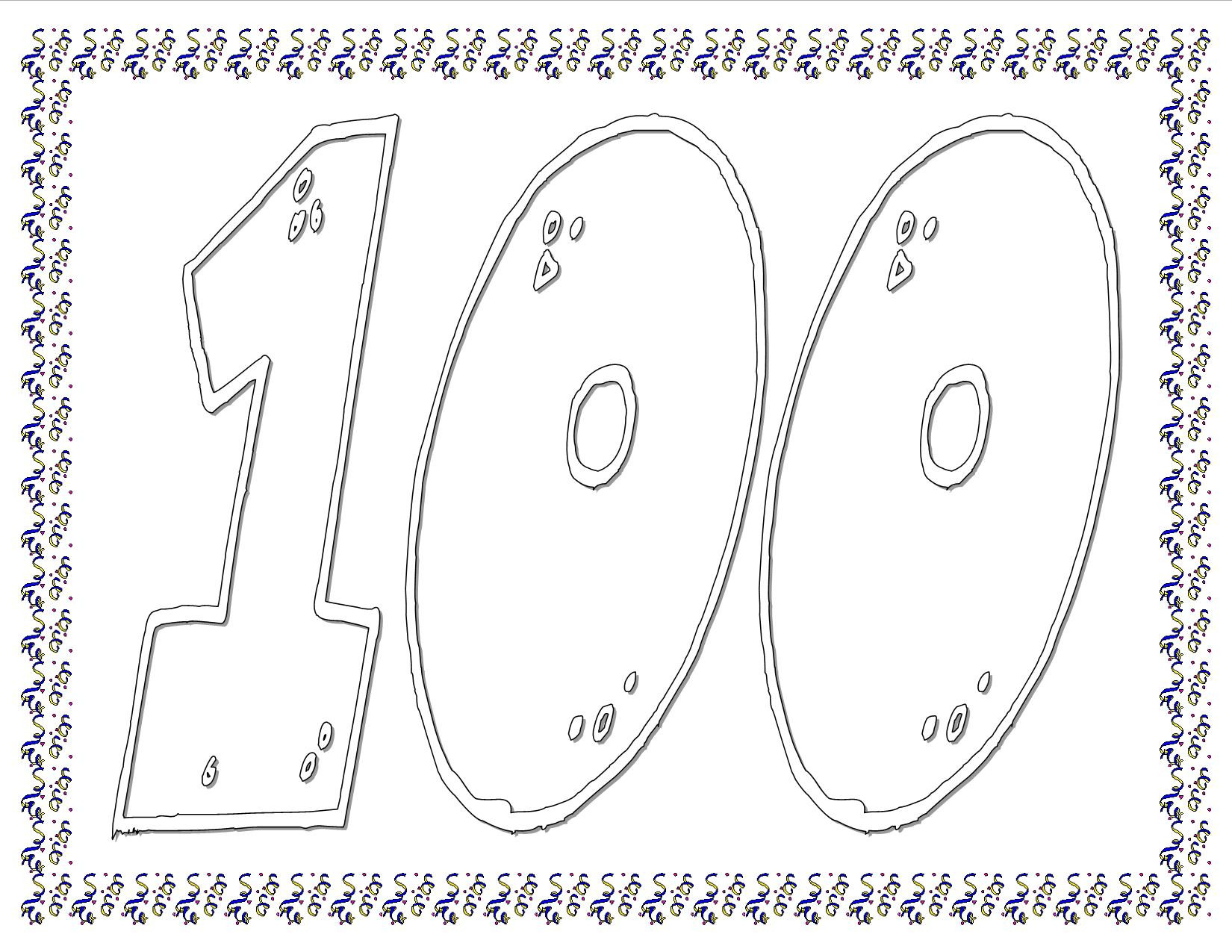 100th Day Of School Worksheets Worksheet 100th Day Necklace