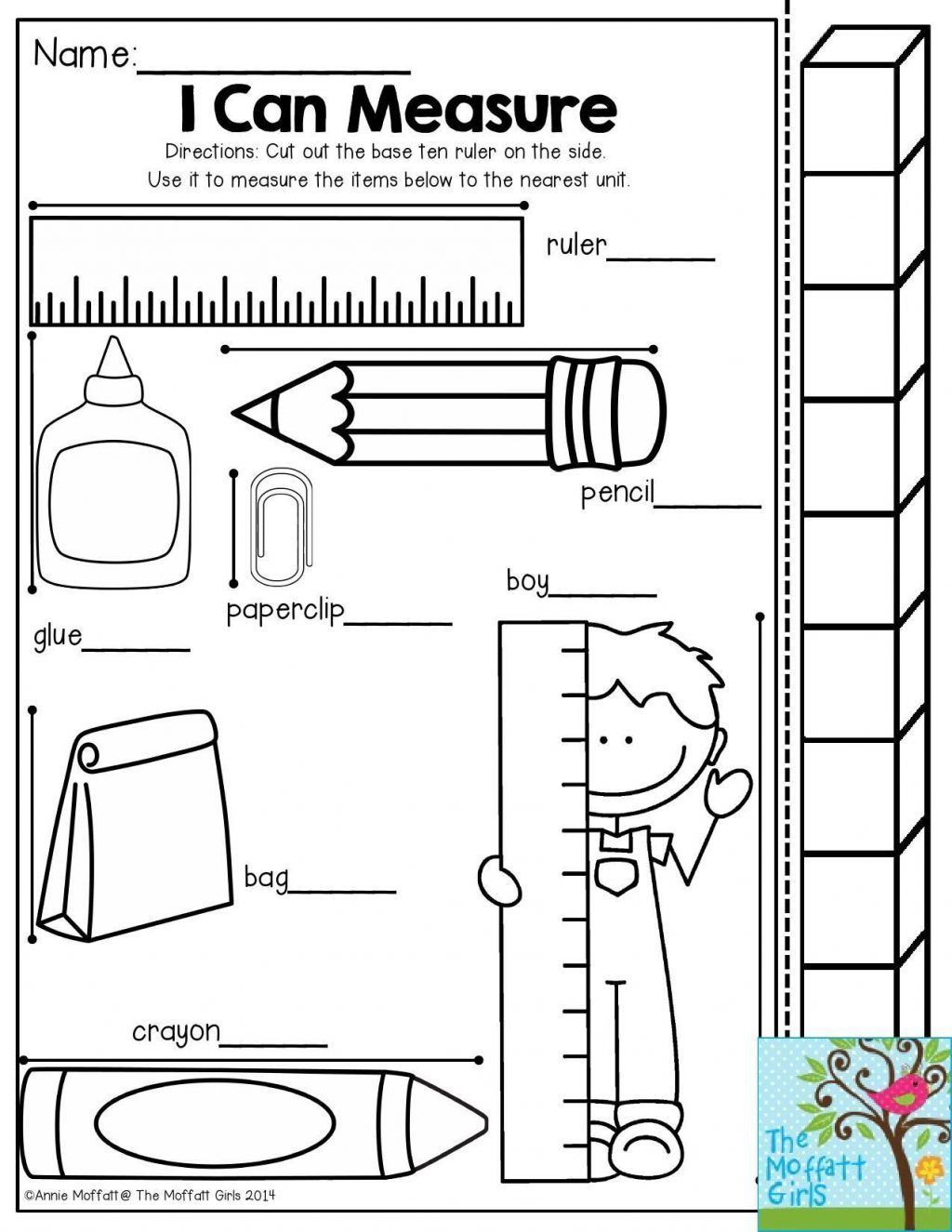 1st Grade Measurement Worksheets