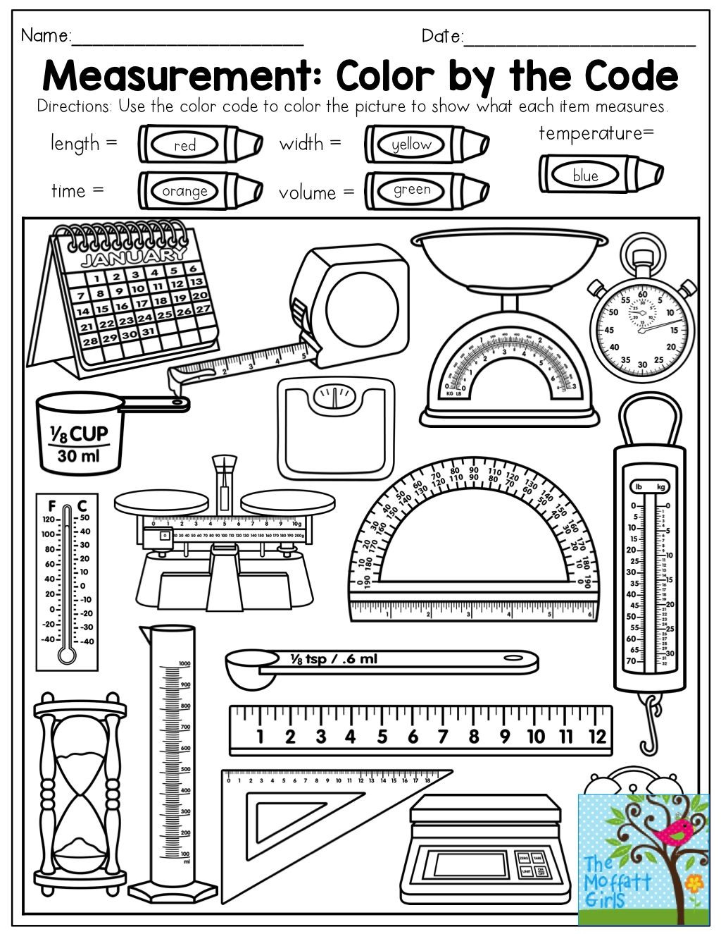 1st Grade Measurement Worksheets Pin On Math