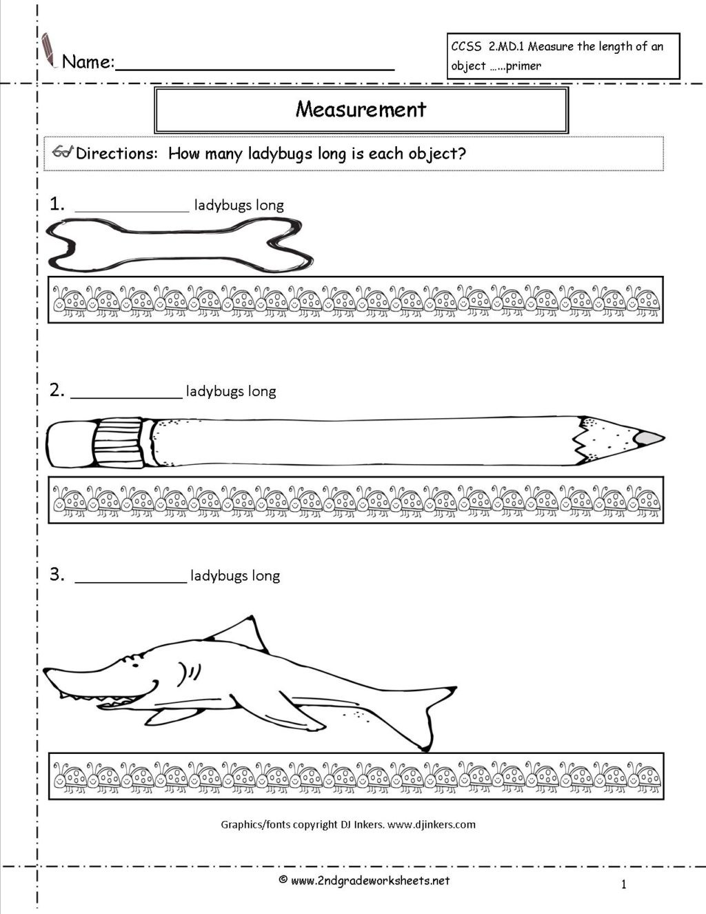 1st Grade Measurement Worksheets Worksheet Ccss2md11a Ccss Md Worksheetssuring