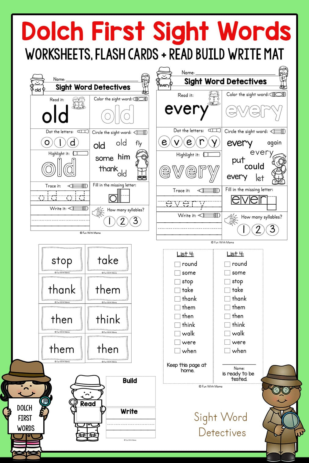 1st Grade Sight Word Worksheets First Grade Sight Words Interactive Worksheets for