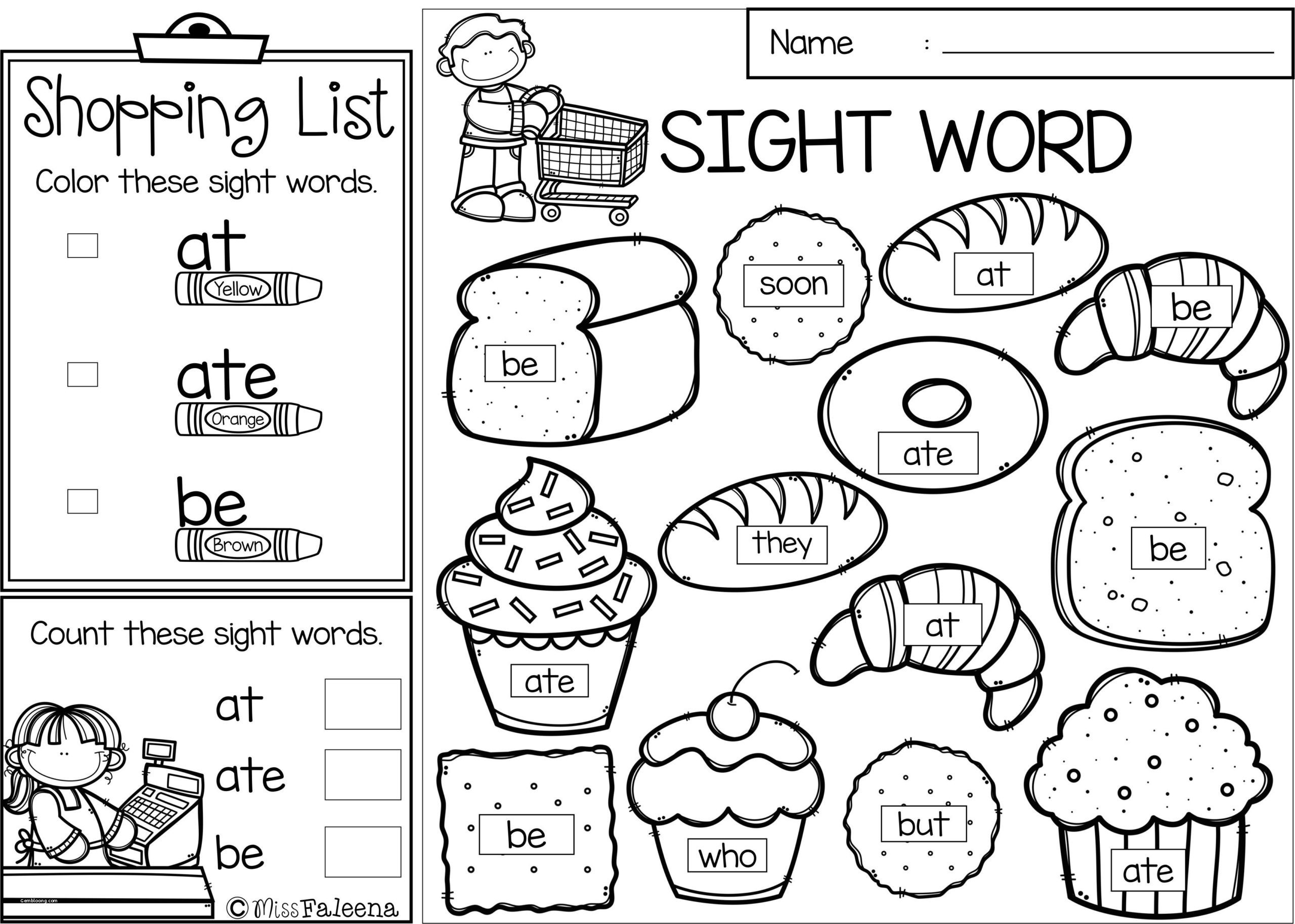 1st Grade Sight Word Worksheets Free Sight Word Coloring Pages Book Printable Pagess First