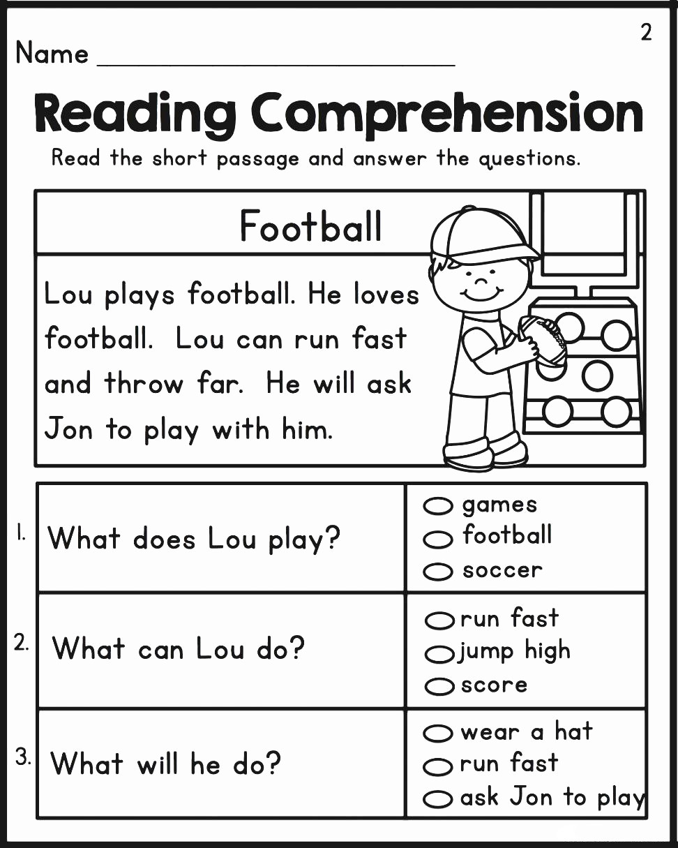 2nd Grade Comprehension Worksheet Math Worksheet 2nd Gradeding Prehension Worksheet