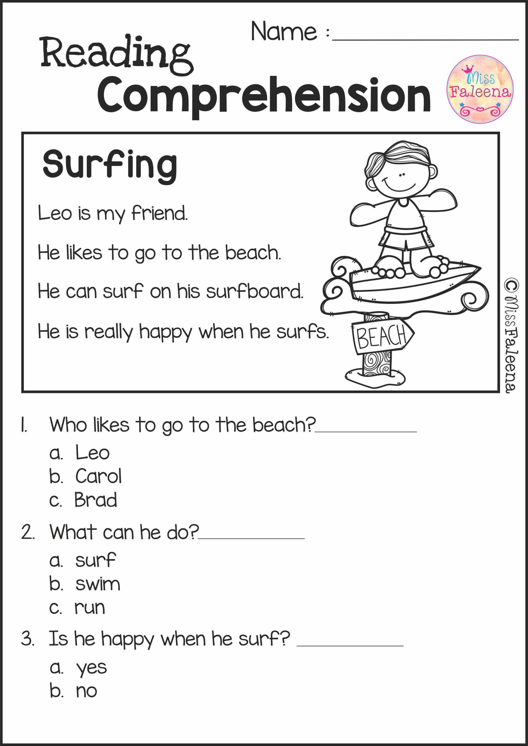 2nd Grade Comprehension Worksheet Reading Prehension Set 2nd Grade Worksheets Get to Know