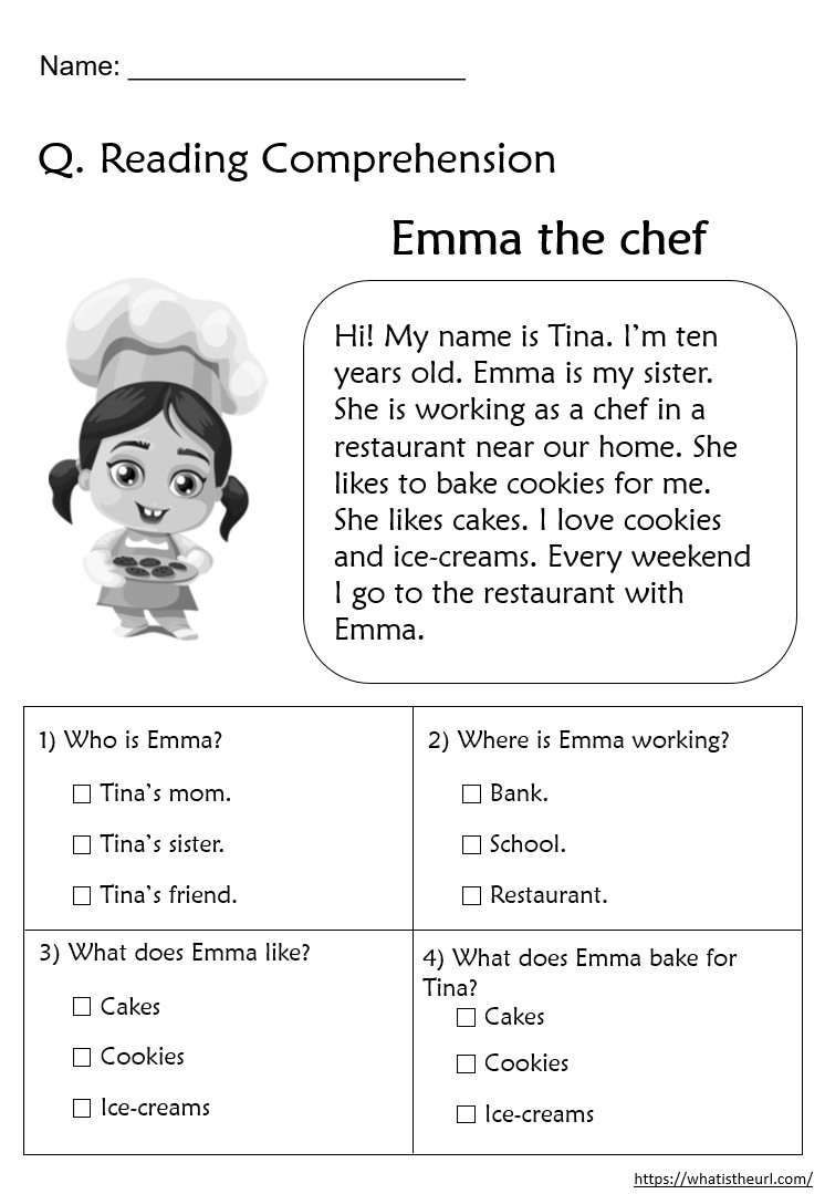 2nd Grade Comprehension Worksheet Reading Prehension Worksheets for Grade 2 Your Home Teacher