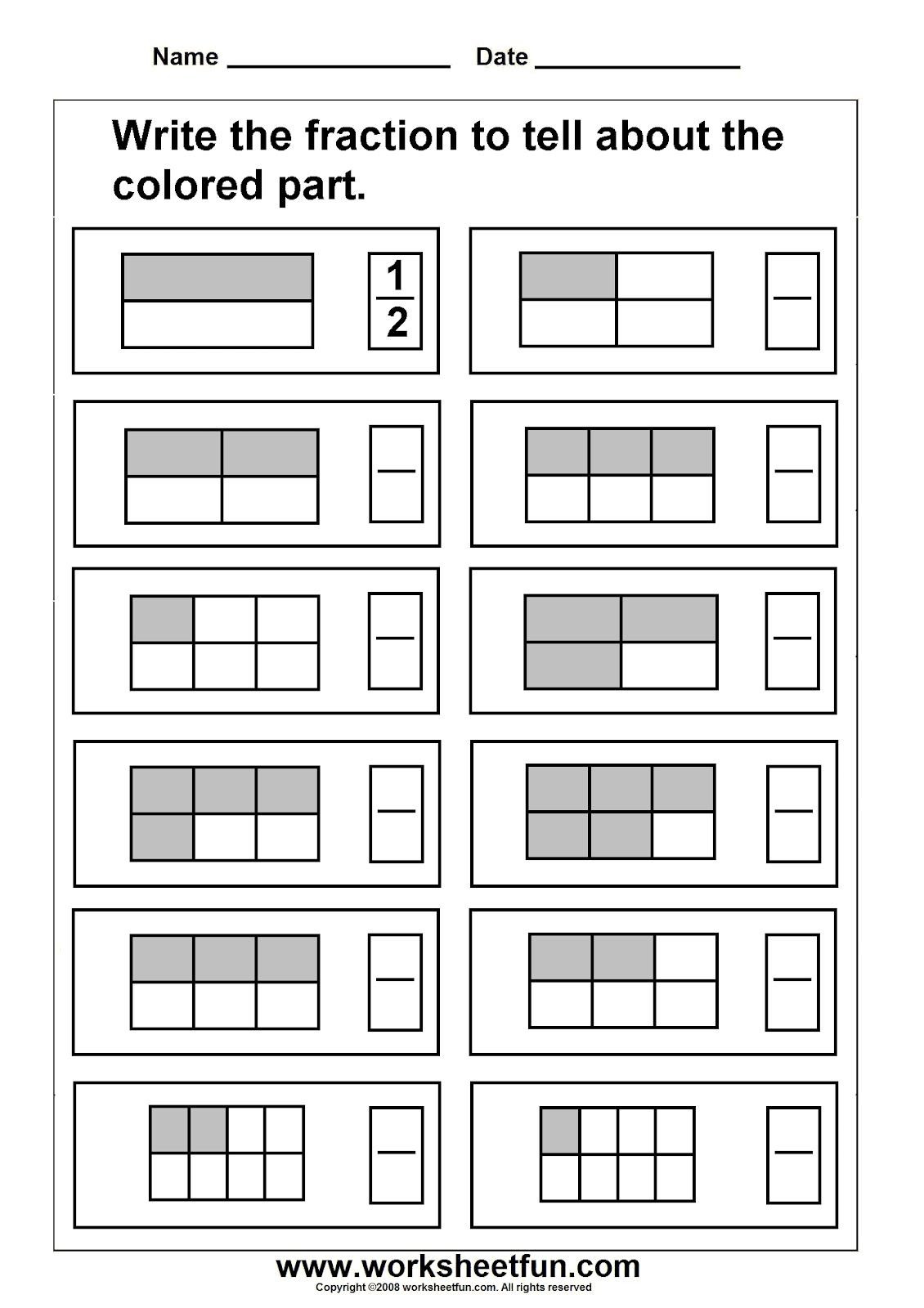 2nd Grade Fractions Worksheets Worksheetfun Free Printable Worksheets