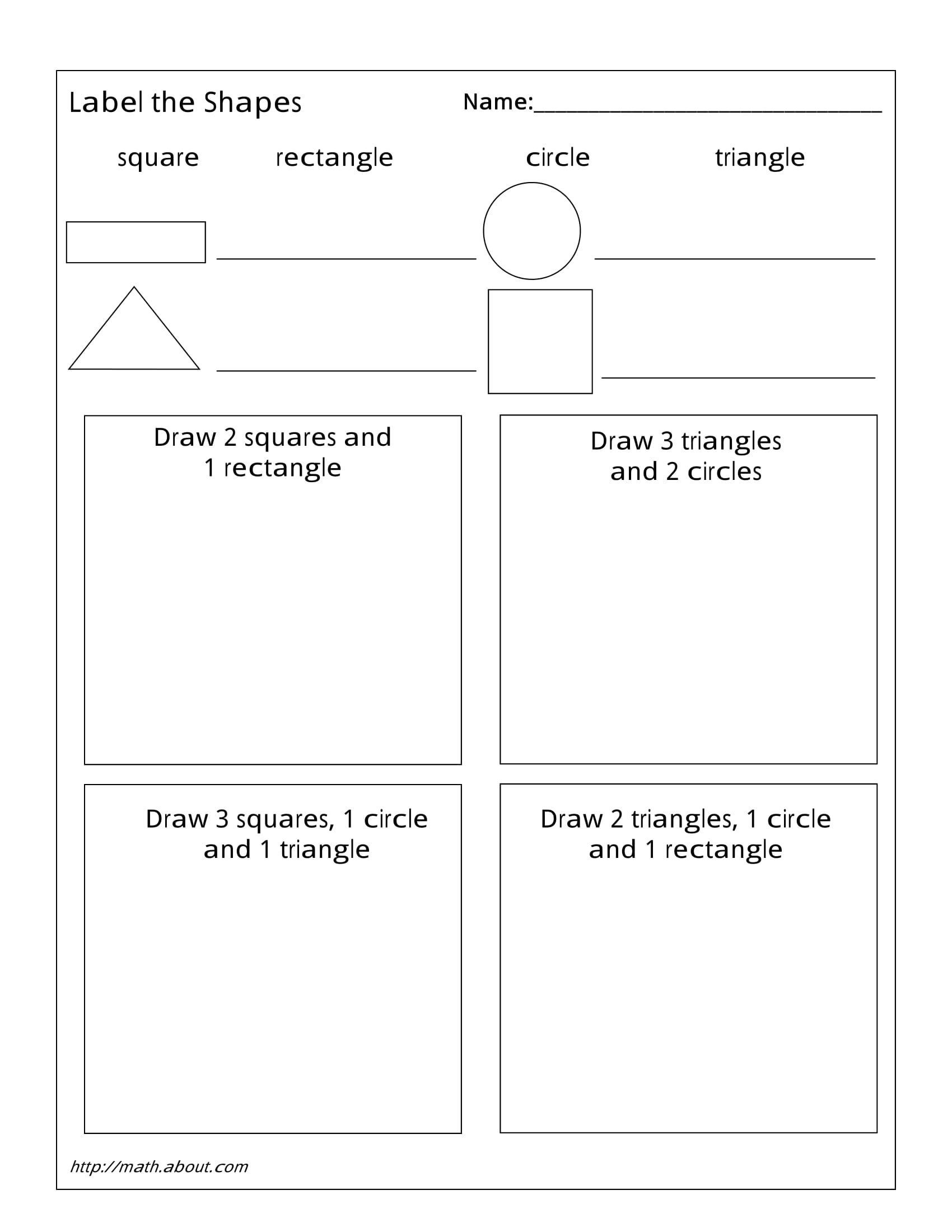 2nd Grade Geometry Worksheets 1st Grade Geometry Worksheets for Students