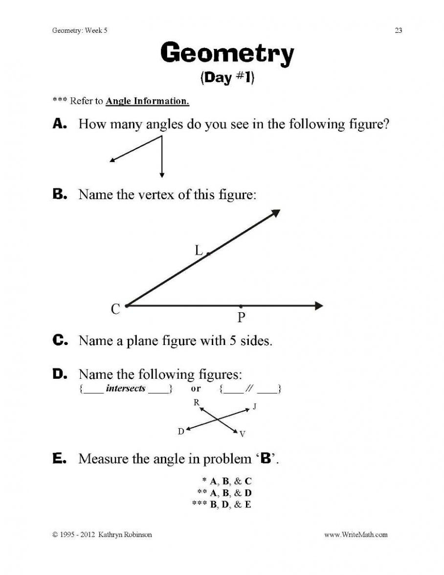 2nd Grade Geometry Worksheets Geometry Final Pdf T Worksheets Elementary Grade Just Turn