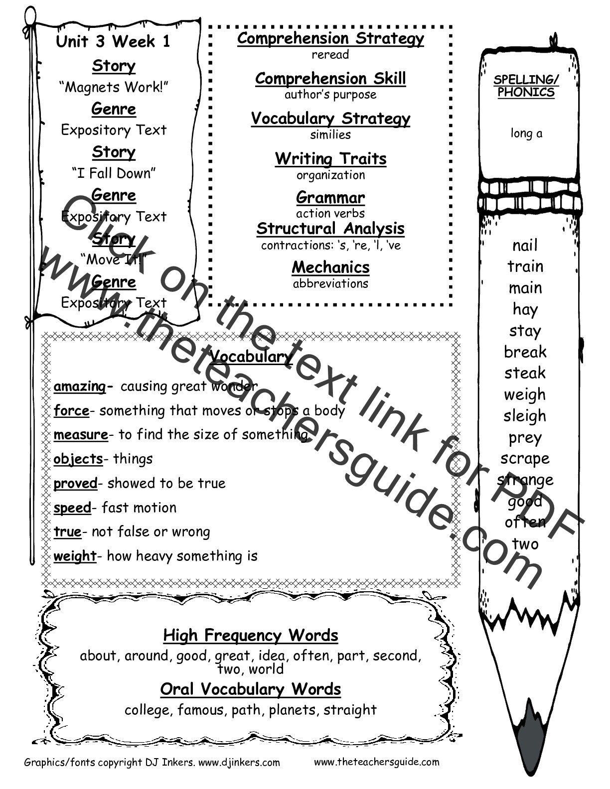 2nd Grade Vocabulary Worksheets Wonders Second Grade Unit Three Week E Printouts