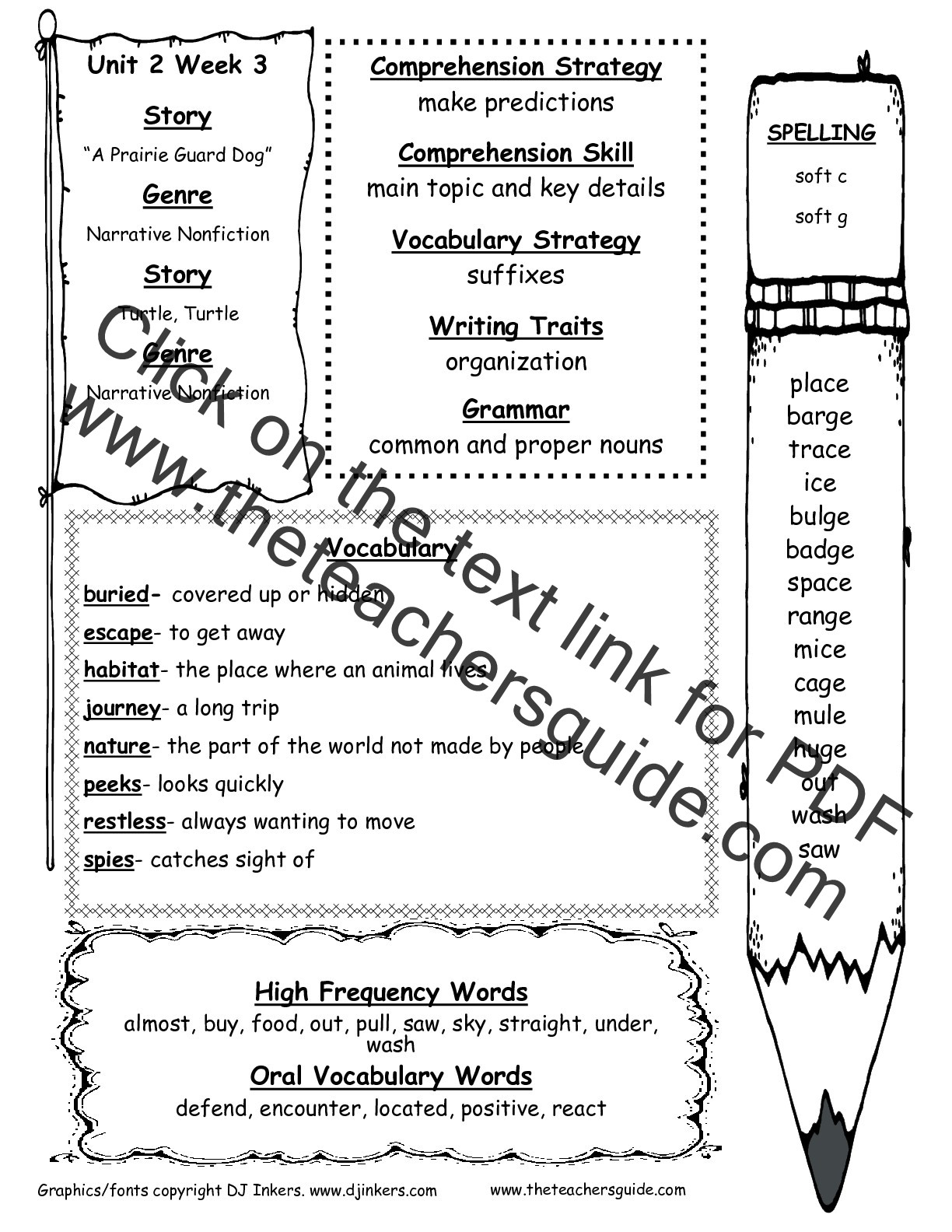 2nd Grade Vocabulary Worksheets Wonders Second Grade Unit Two Week Three Printouts