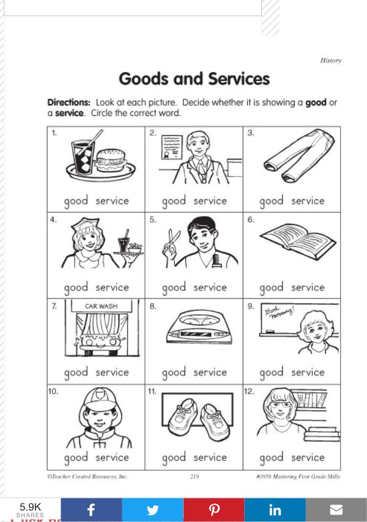 3rd Grade Economics Worksheets Pin by Mar Tina On social Stu S