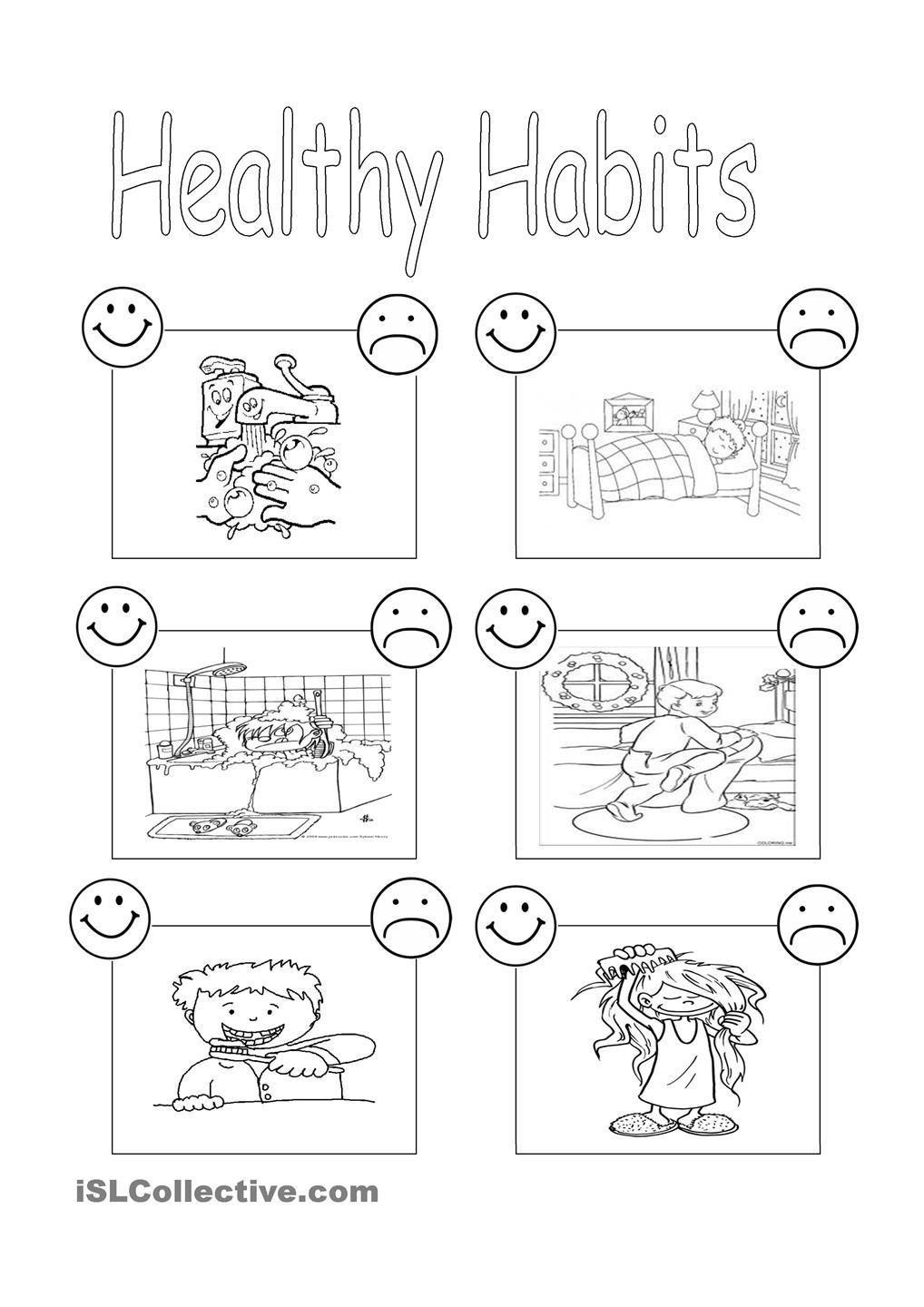 3rd Grade Health Worksheets Healthy Habits