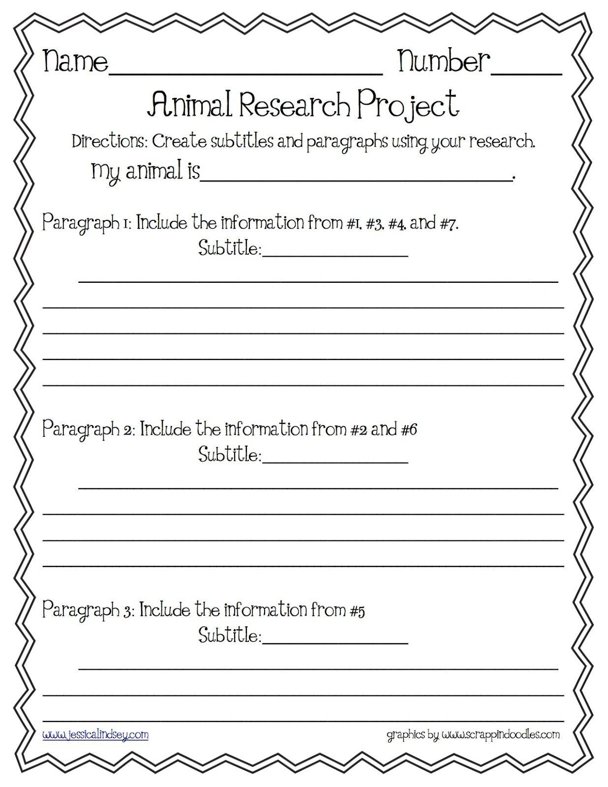 3rd Grade Paragraph Writing Worksheets Animal Report Paragraph organizer