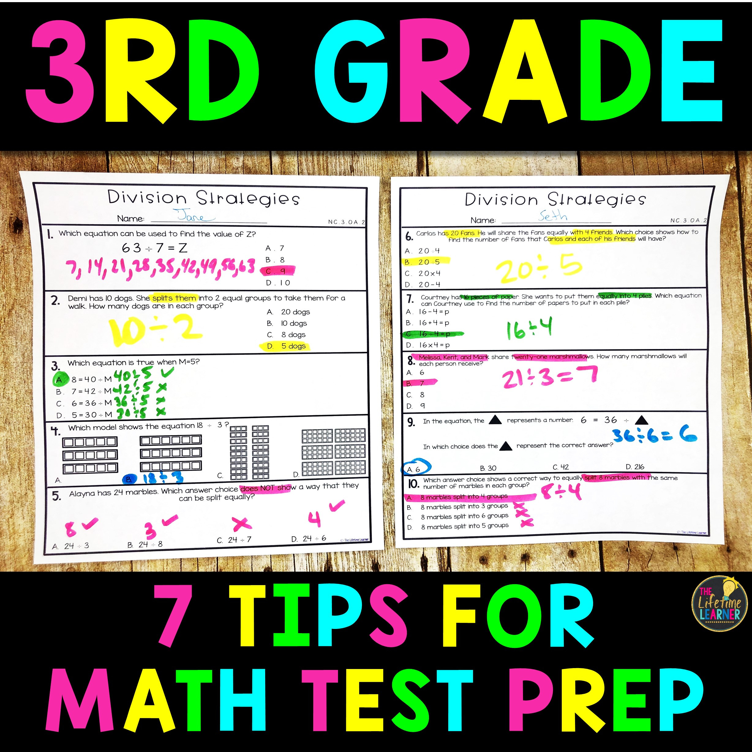 3rd Grade Test Prep Worksheets 7 Tips for 3rd Grade Math Test Prep the Lifetime Learner