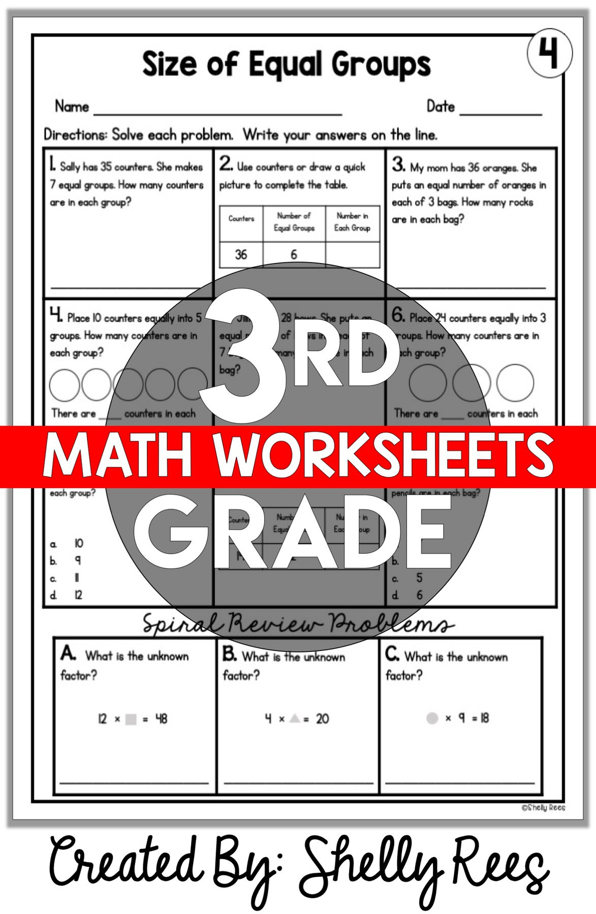 4th Grade Math Review Worksheets 3rd Grade Math Worksheets Free and Printable Appletastic